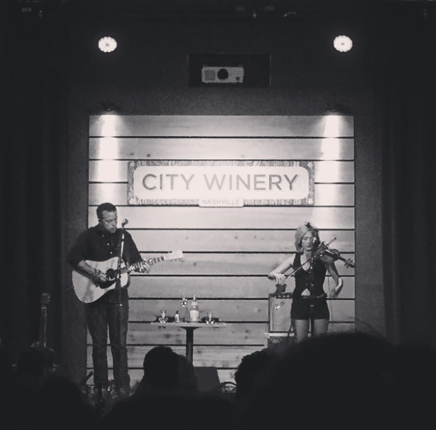 Jason Isbell  and Amanda Shires performing via Flickr.