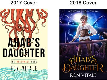 Ahab's Daughter original versus new 2018 cover.