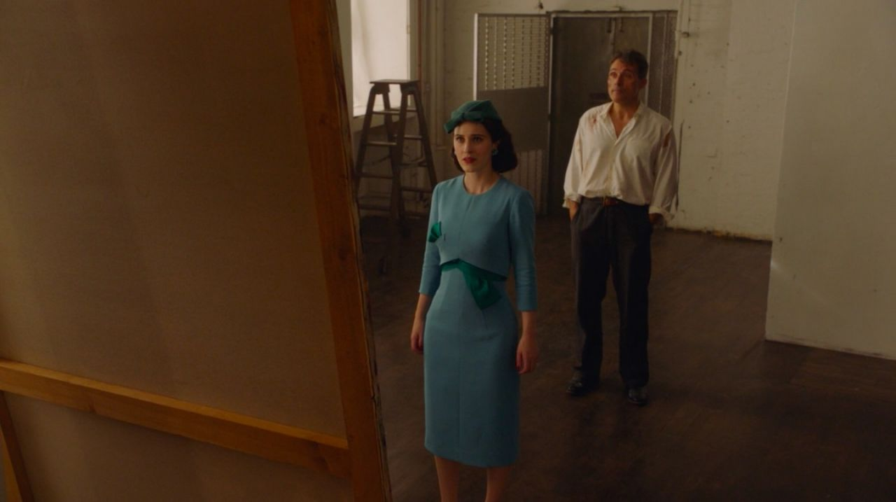Declan Howell showing his masterpiece to Midge in Amazon's  The Marvelous Mrs. Maisel .