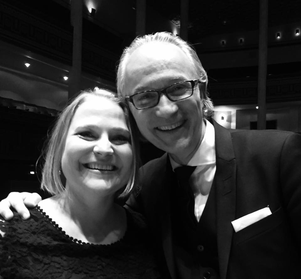 Konserthuschefen Stefan Forsberg och Operabyråns sopran Christina Larsson Malmberg efter presskonferensen 10 april 2017.