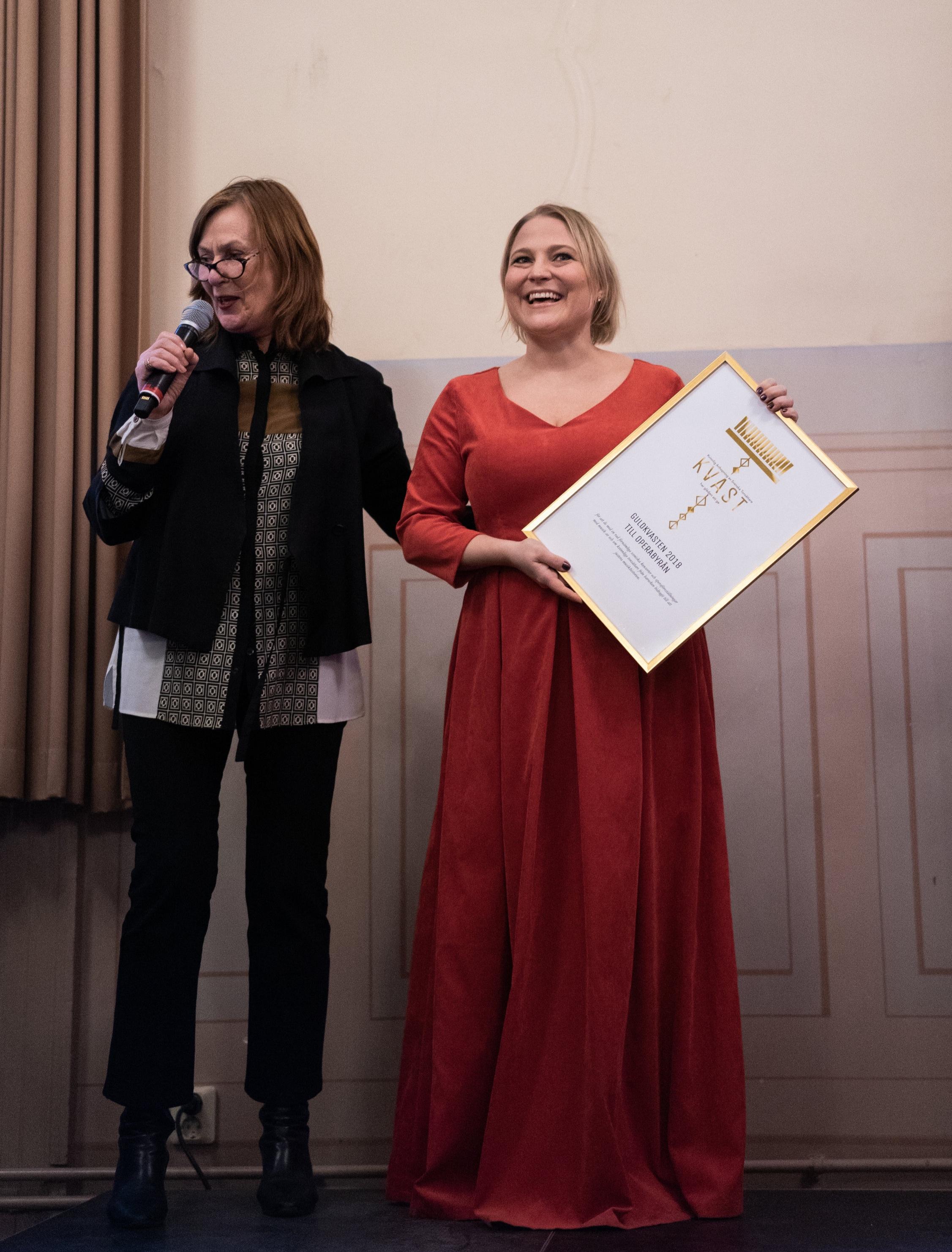 På bilden syns Astrid Hartmann från KVAST och Christina Larsson Malmberg från Operabyrån.  Foto: Hampus Andersson från Svensk Musikvår