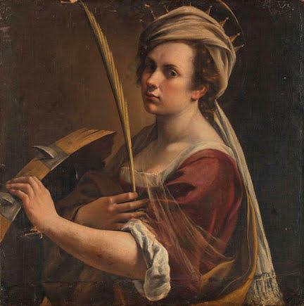 Artemisia Gentileschi självporträtt
