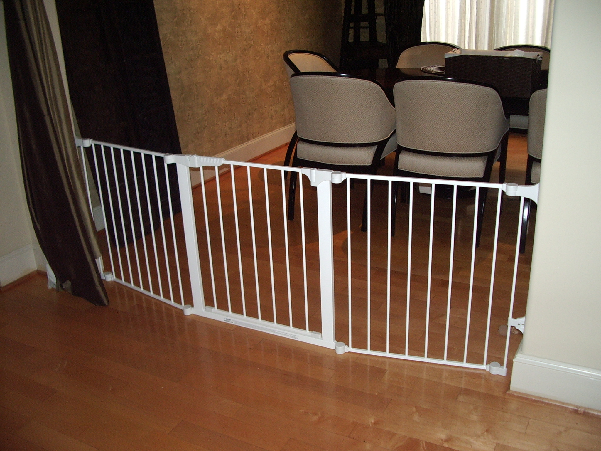 Custom fit gates allow you to close off entire rooms