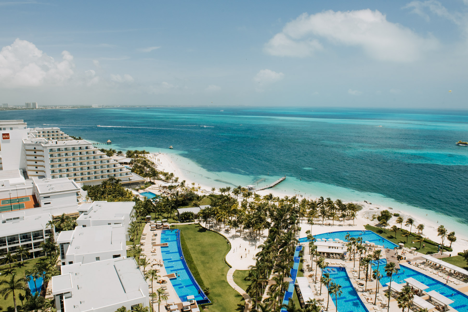Here is the view from our room in Cancun, Mexico, on the day of Julia & Tony's Wedding. We had a blast capturing their destination elopement. All of their friends made us feel incredibly loved and welcome, like we had been friends for years. I love photographing destination weddings! Copyright: Teresa Woodhull Photography
