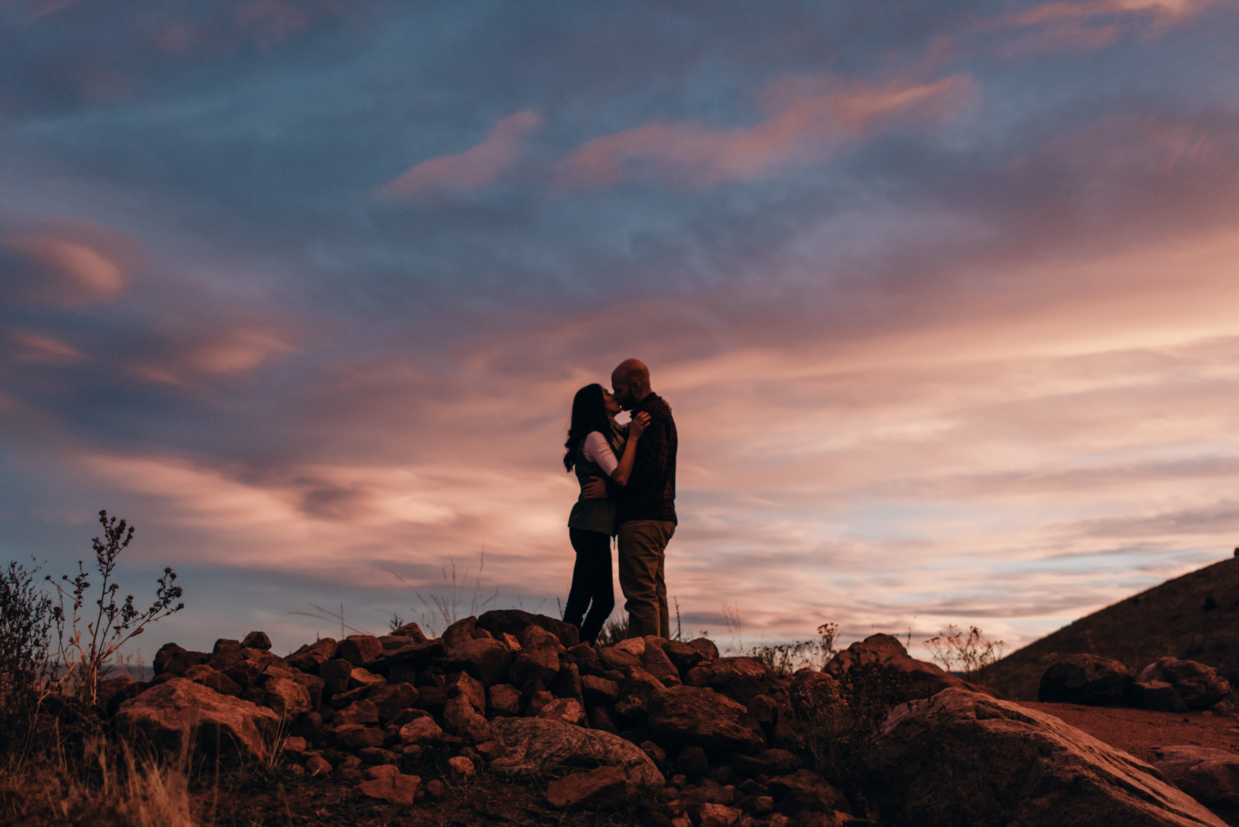 The sky was like cotton candy this day. Daisy and Brett had a gorgeous anniversary session at Red Rocks Park in Denver, Colorado.