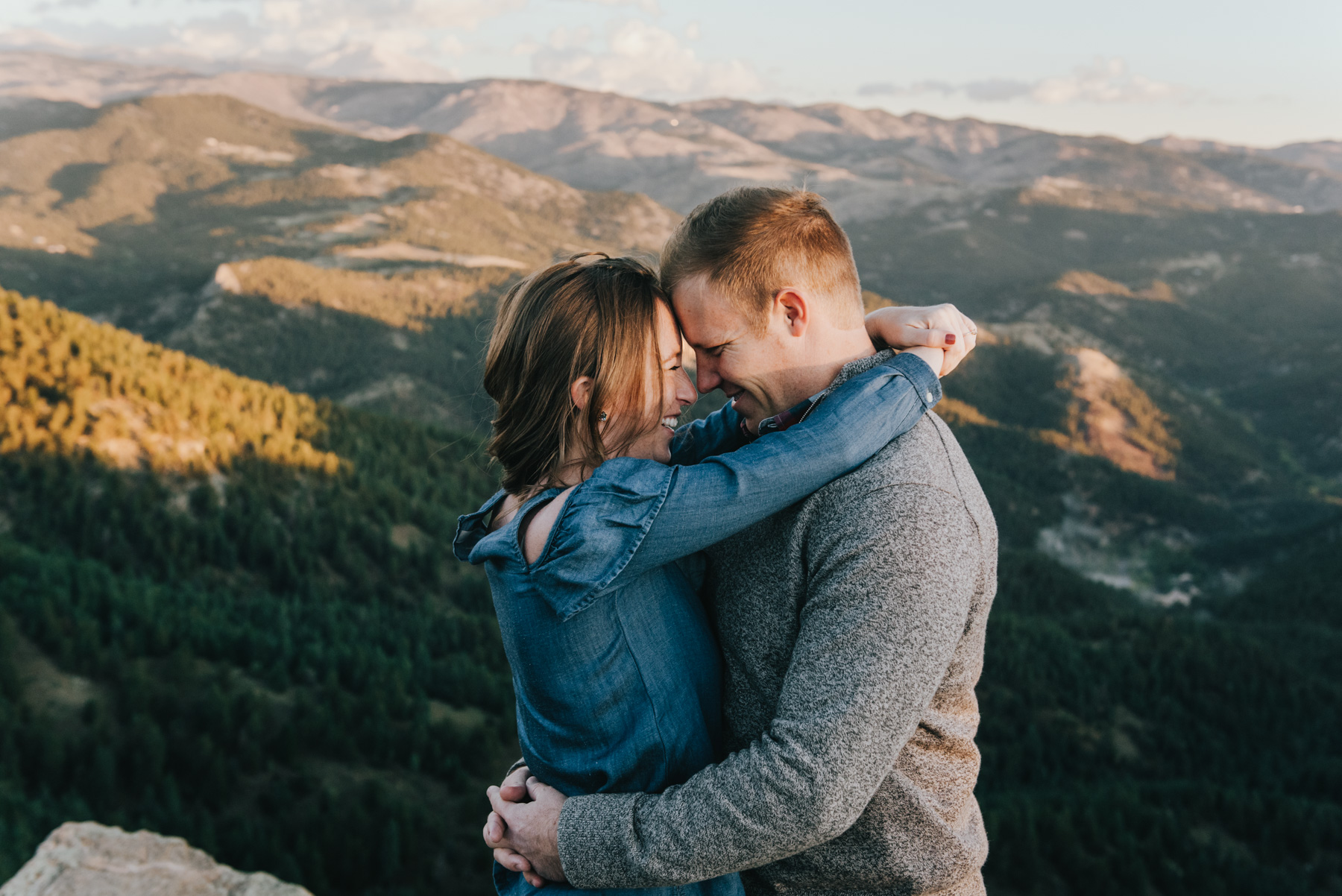 Michelle & Dain at their Lost Gulch Overlook engagement session near Boulder, Colorado.