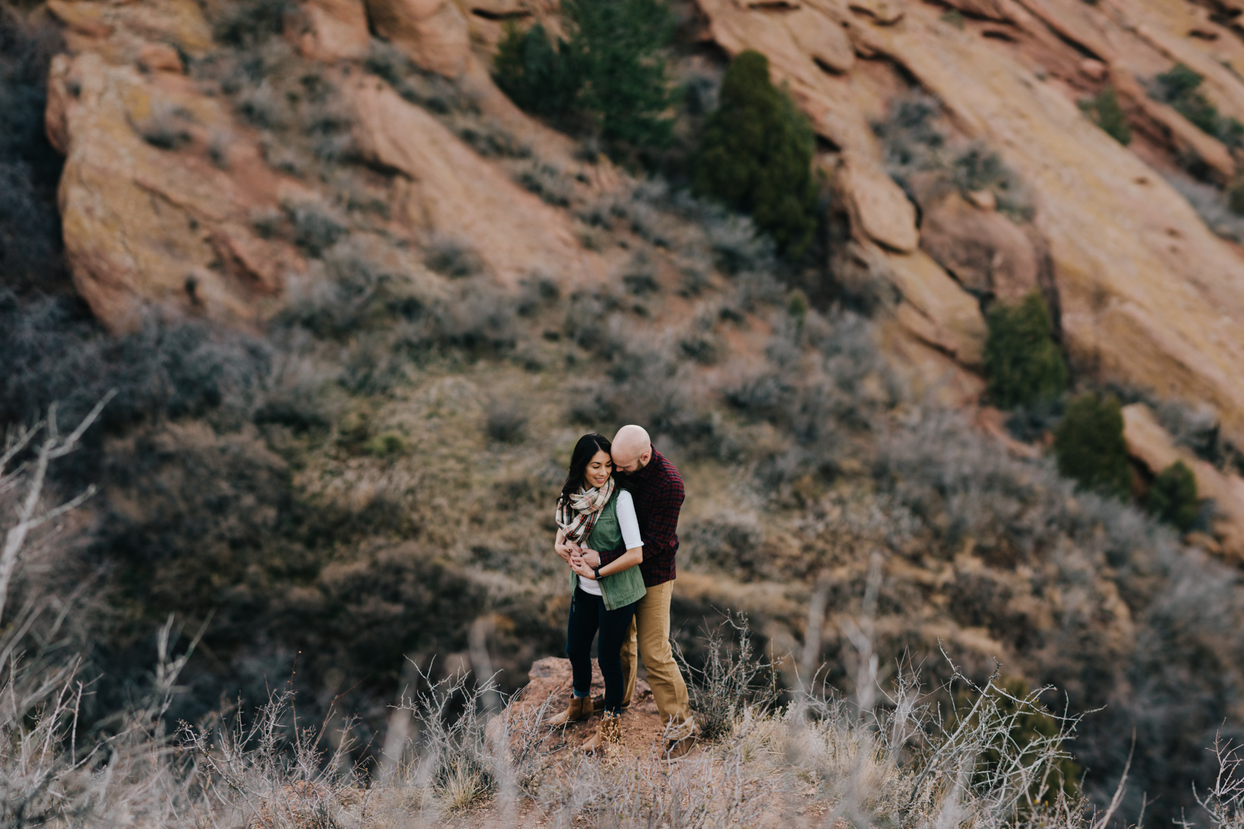 Red Rocks has so many hidden gems - this hike being one of them! This is a 26 pic-stitch image we did with Daisy and Brett!