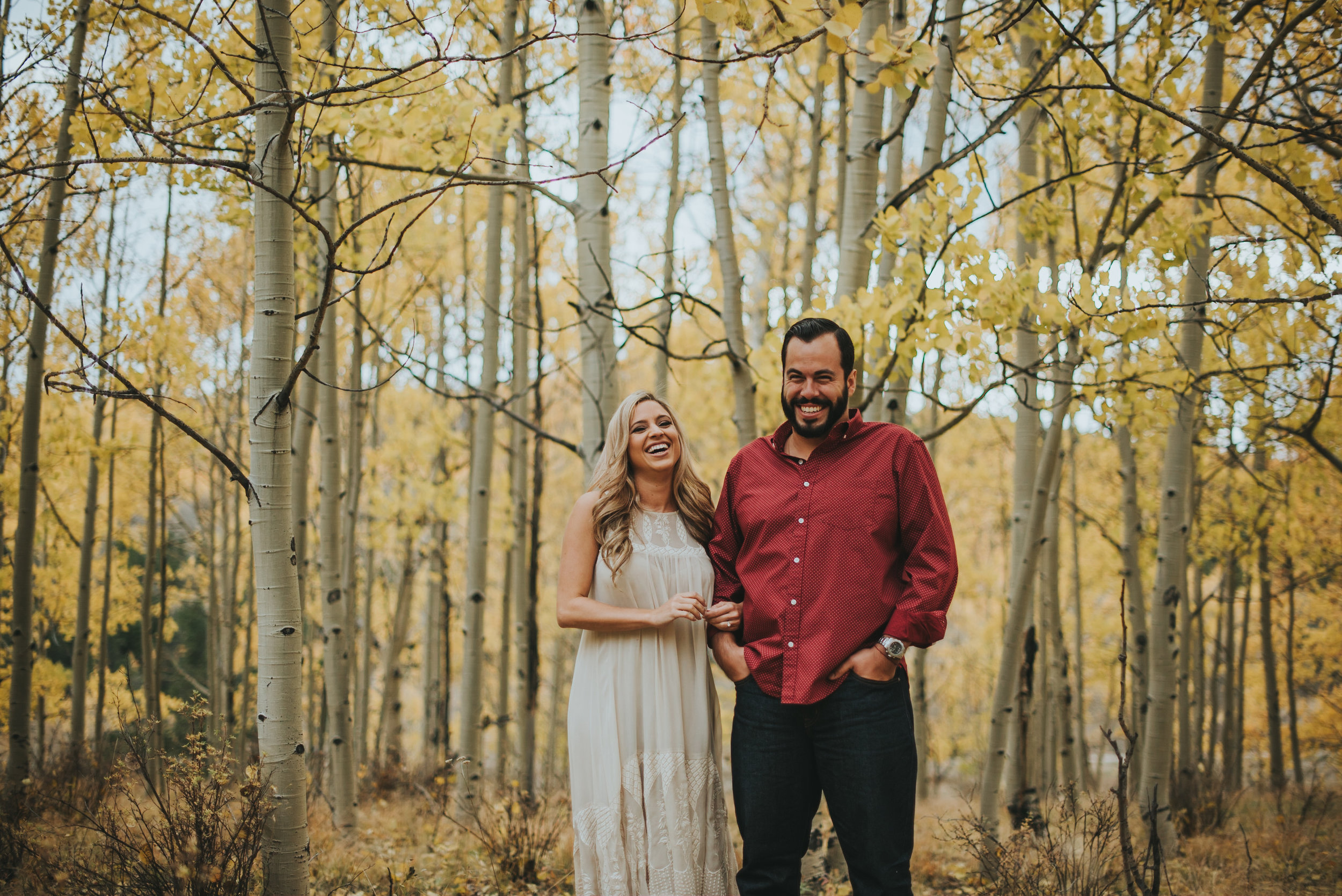 Didi and Mauri during Fall at Kenosha Pass. Kenosha pass is a great spot for Fall engagement photos! Love this area so much!