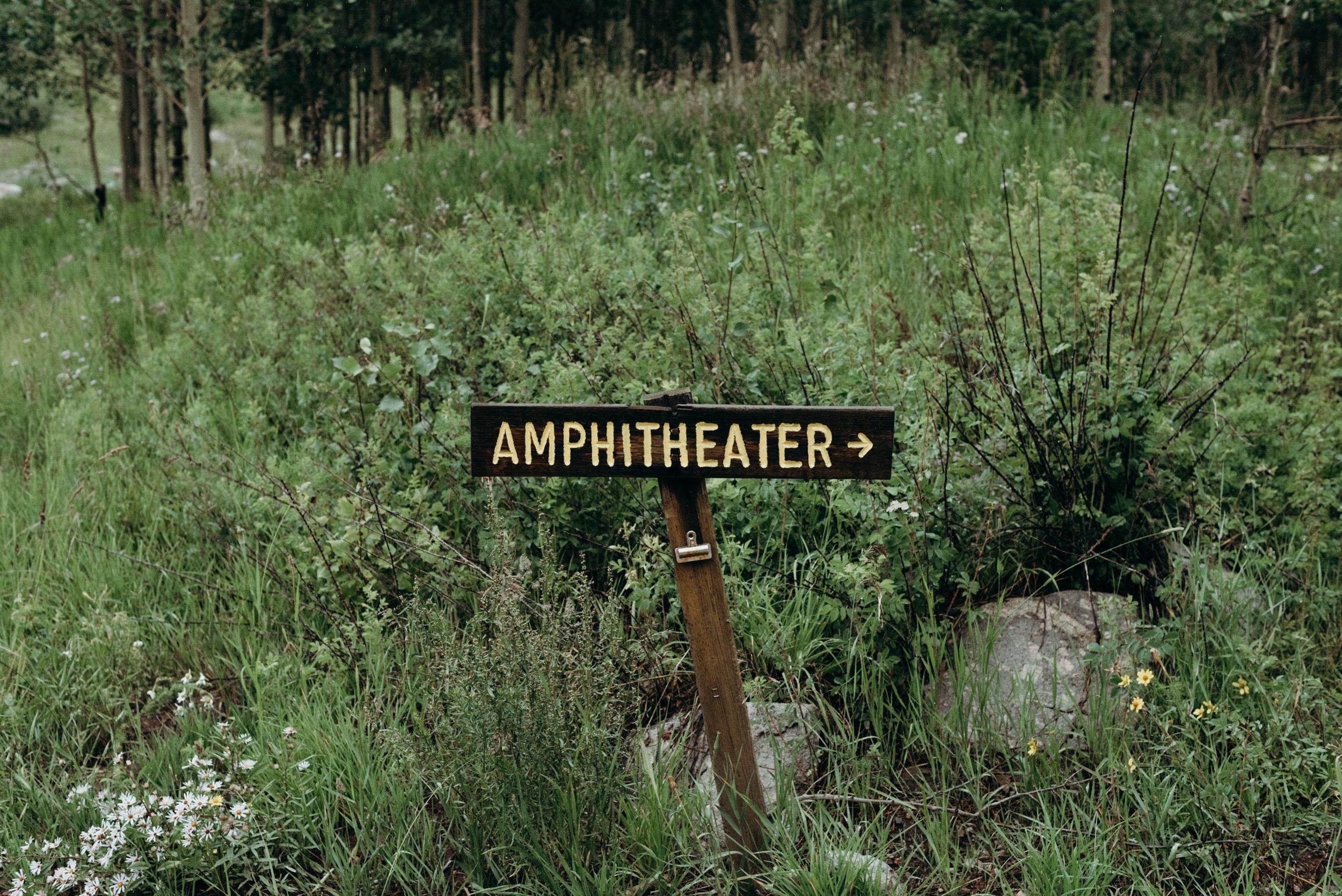 Maroon Bells Amphitheater sign.