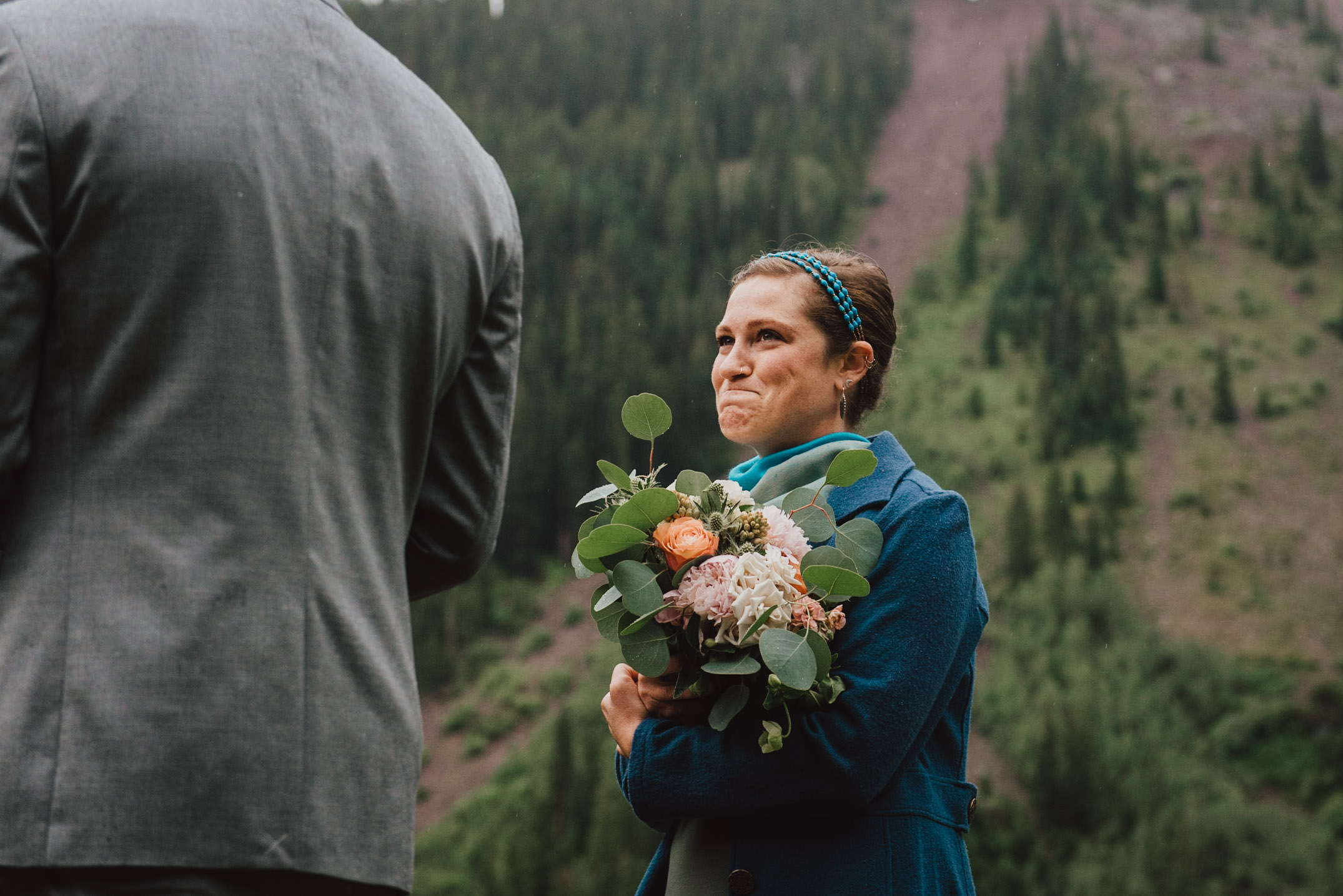An emotional officiant.