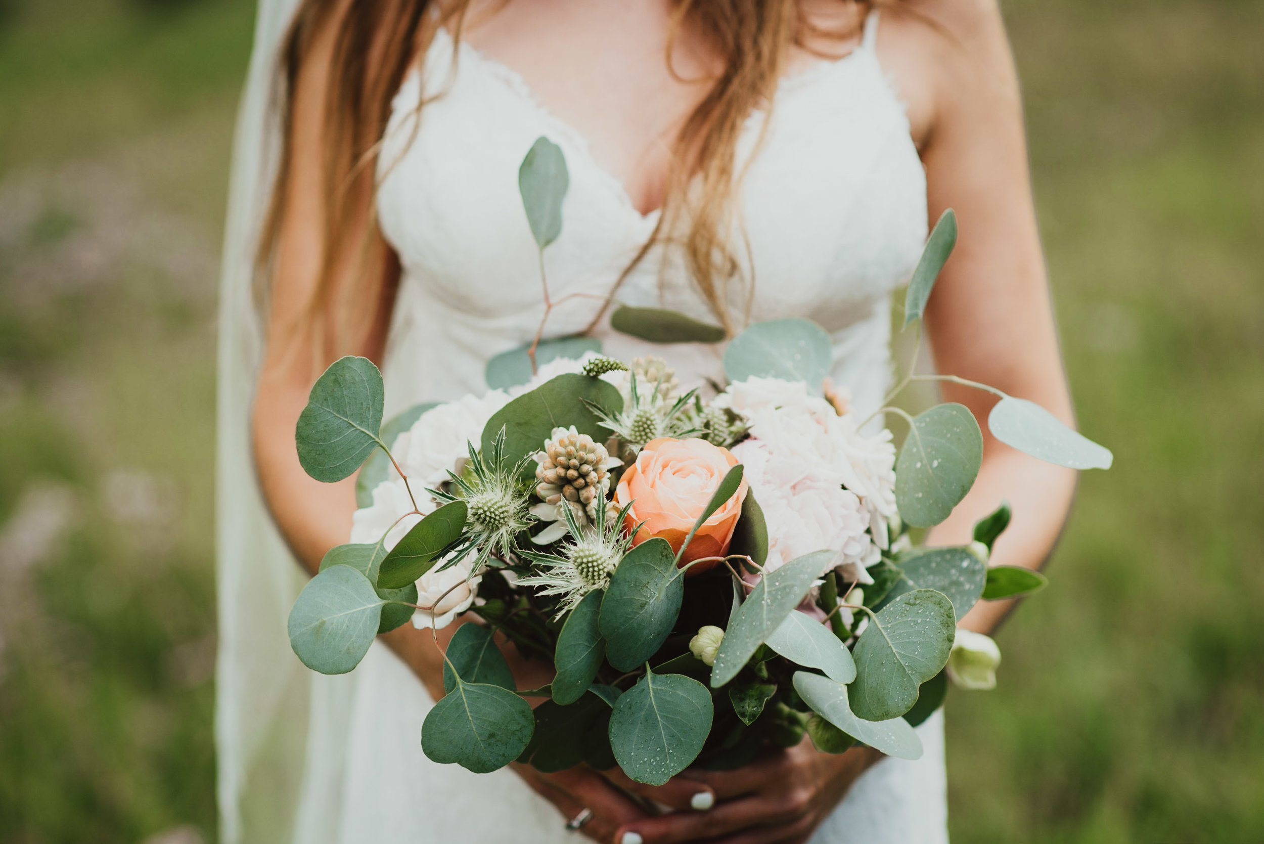 Heather's wedding flowers.