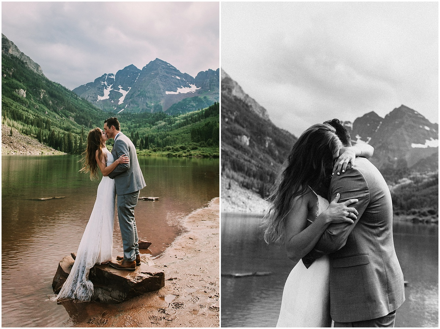 It was so muddy during their Aspen Wedding but Heather and Darren did not mind at all!