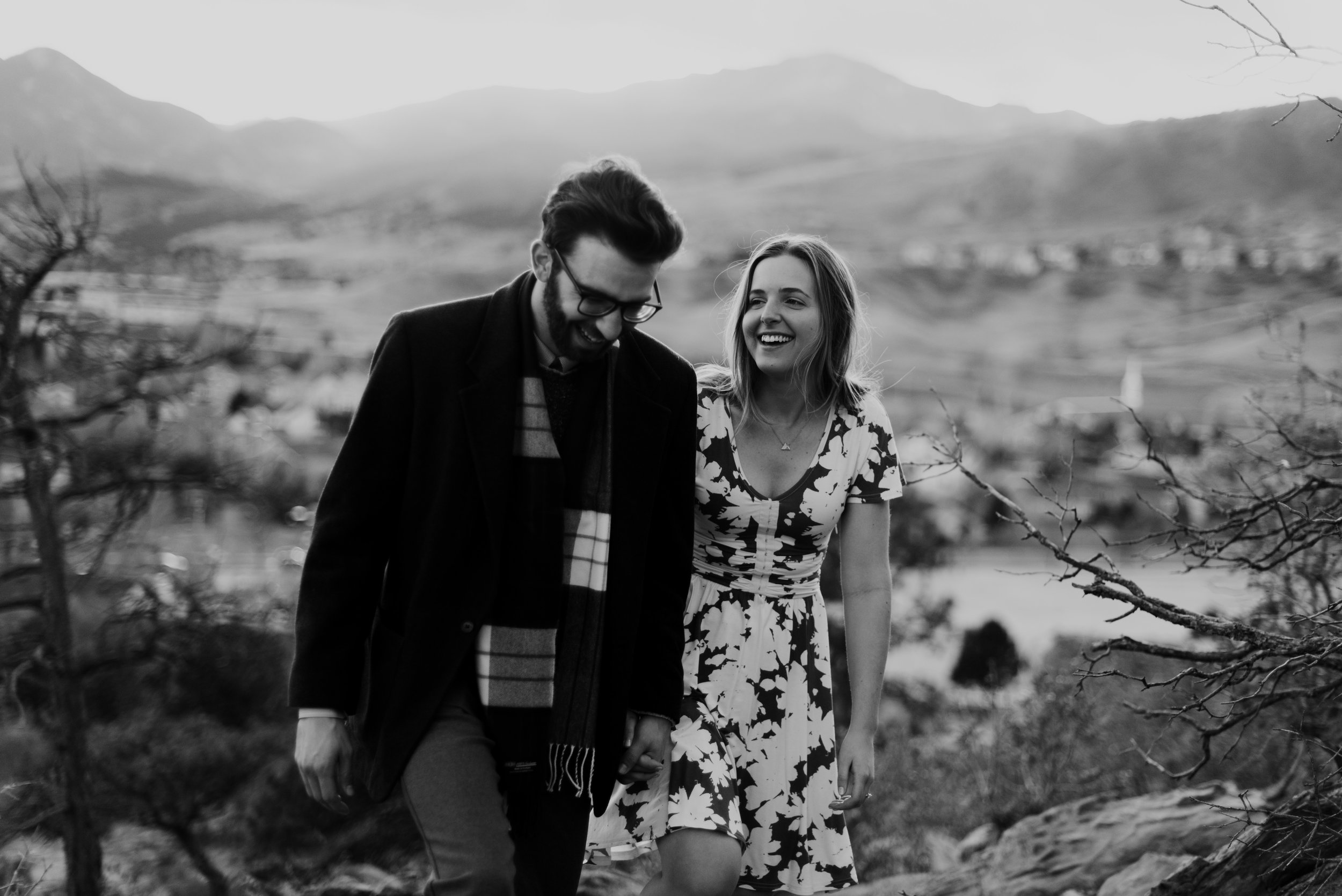 Rcahel and Ted during their Garden of the Gods engagement session.