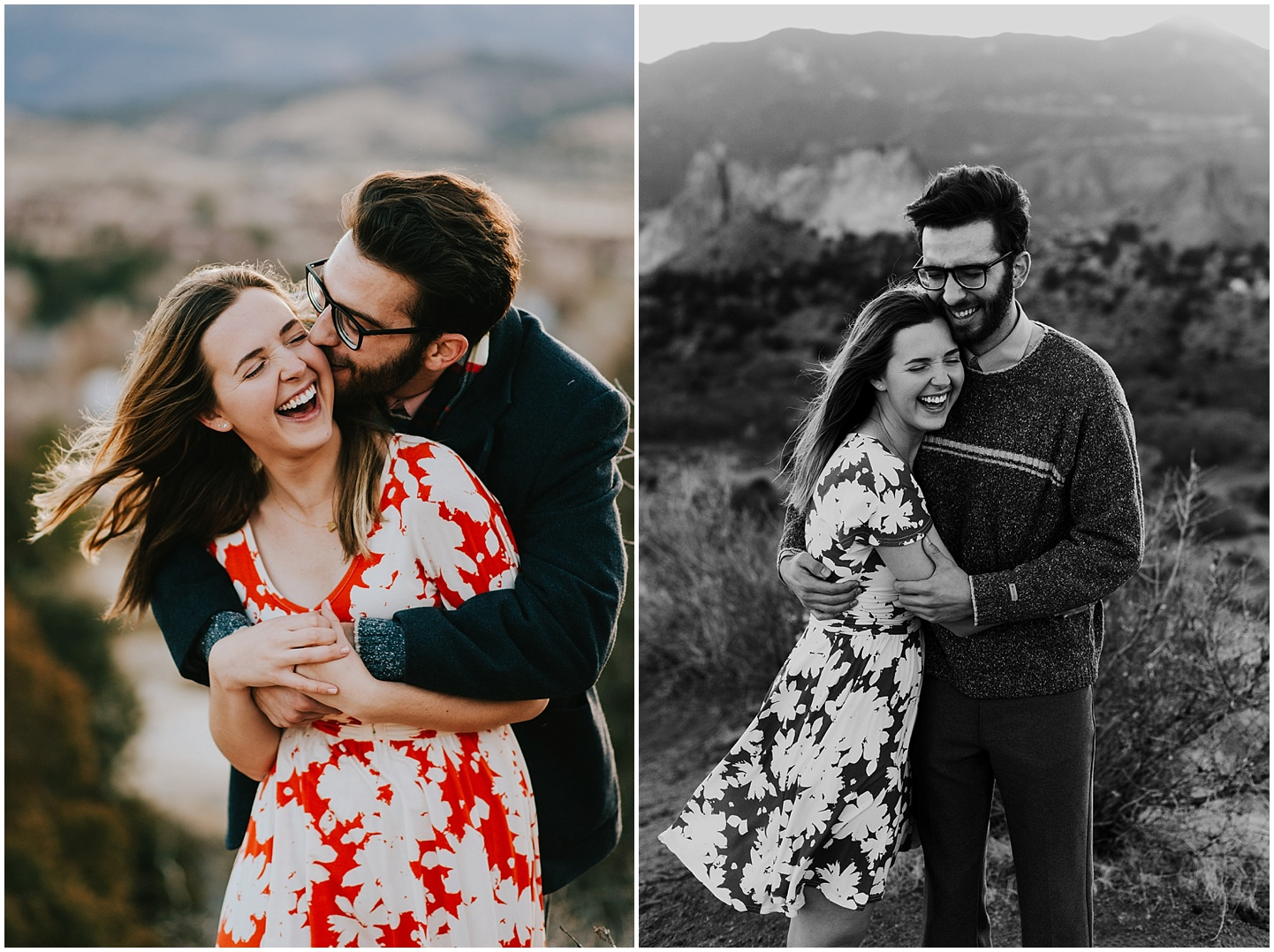 Ted making Rachel laugh during their engagement session in Colorado Springs. They were such a fun couple to photograph!