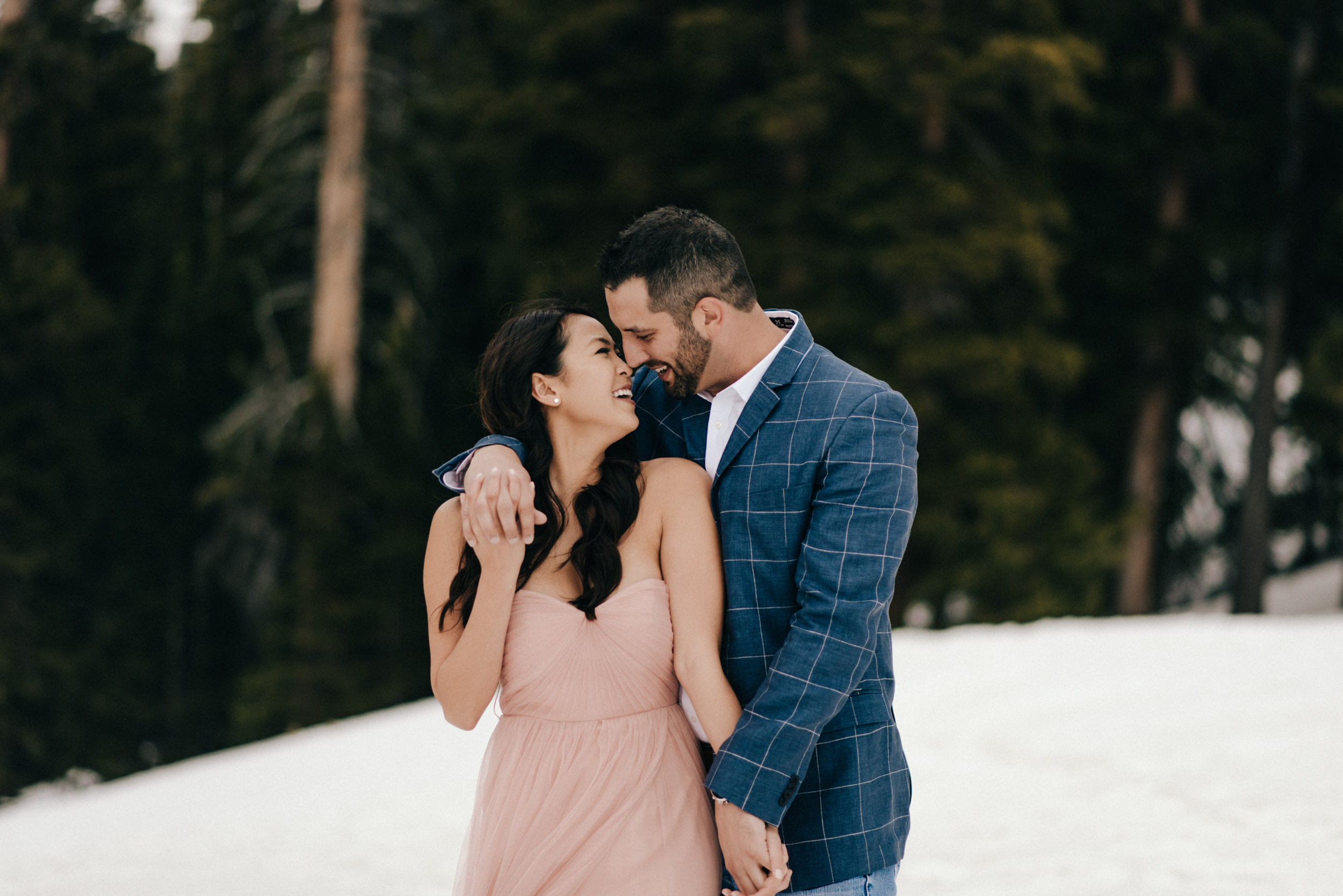 Snowy engagement shoot with Celina and Steve in Winter Park, Colorado.