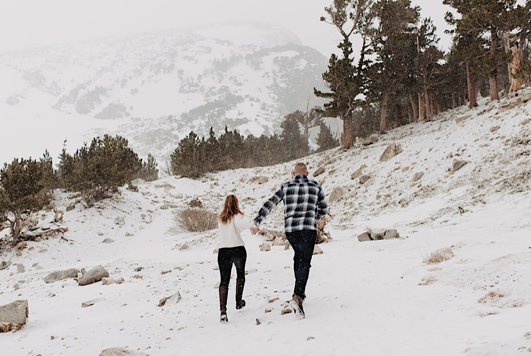 St. Mary's Glacier Hike, St. Mary's Glacier Snowy Engagement Photos, Berthod Pass Engagement Photos, Winter Park Colorado Engagement Photos, Hiking Engagement Session, Winter Park Photographer, Estes Park Photographer, Winter Park Wedding, Winter Park Elopement, Adventure Engagement Session, St. Mary's Glacier Engagement Session, National Park Elopement, Colorado Engagement Photos, Mountain Engagement Photos, Colorado Engagement Photographer, Colorado Wedding Photographer, couples portraits