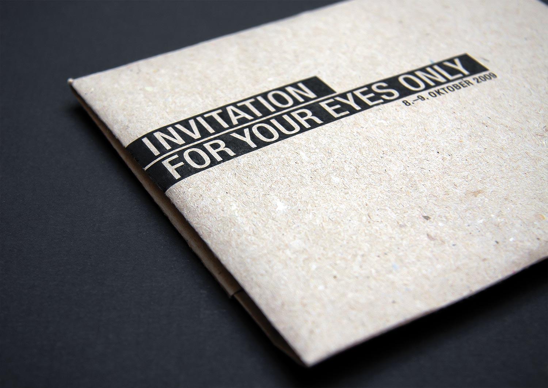 Facts - Service: Invitation, Envelope FoldingBranch: AutomotiveScope: Ideation, Concept, Typography, ProductionProduction: Foil Plotts