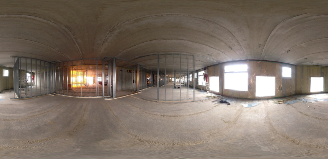 Panorama from classrom in 4'th floor under construction