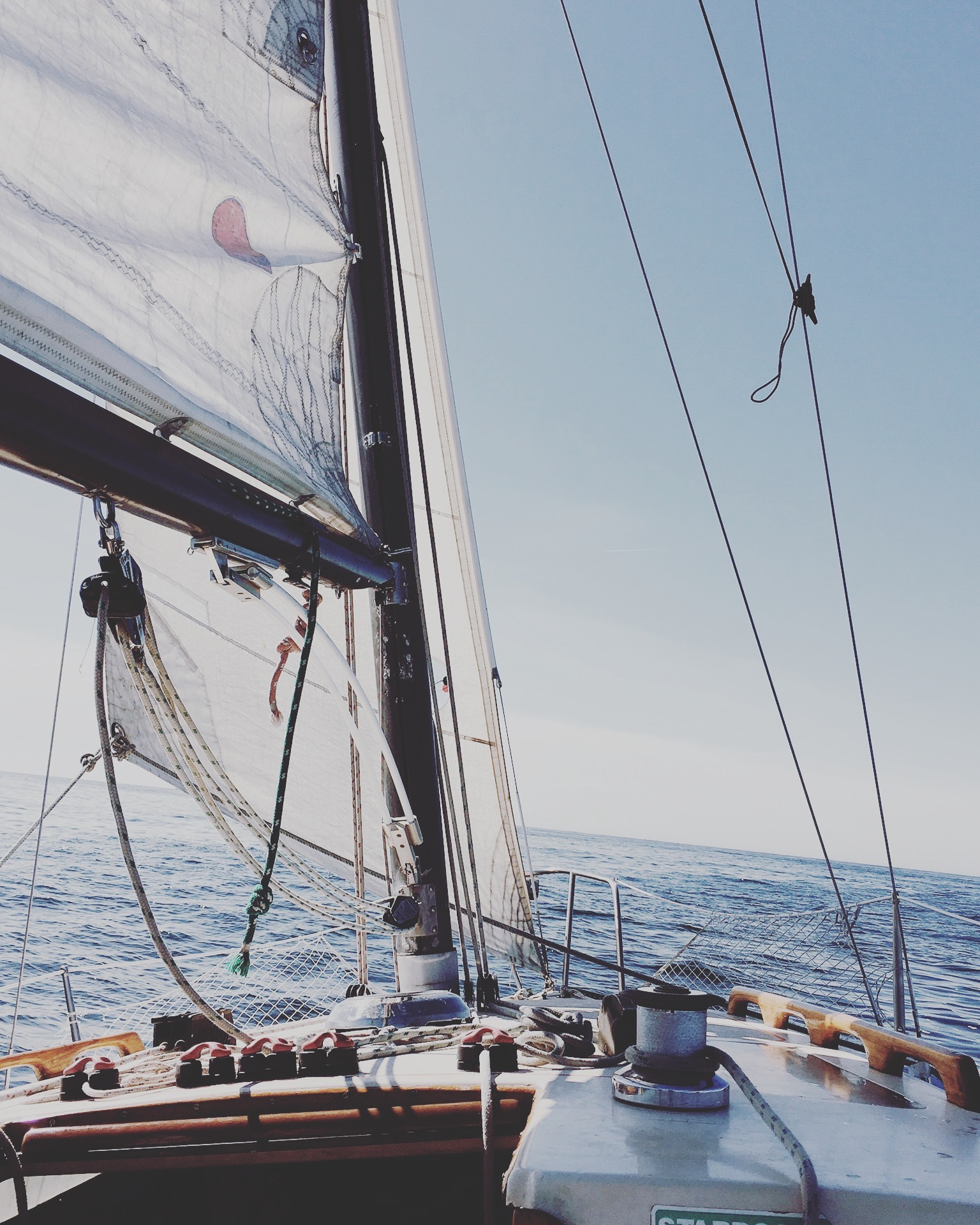 A shot from sailing around Santa Cruz in 2016