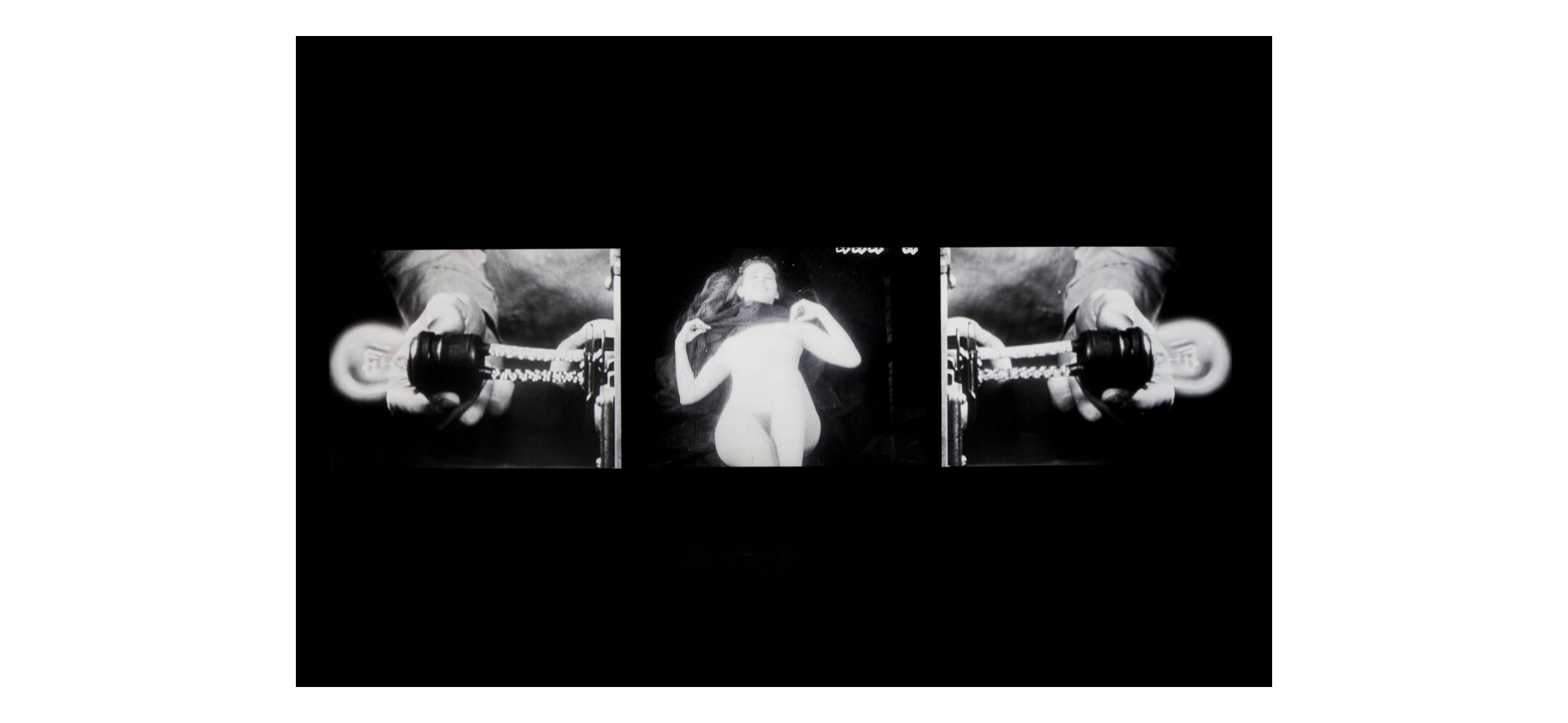 Bruce Conner,THREE SCREEN RAY, 2006; Three-channel video installation, with sound, 5:14 min., Dimensions variable; Collection SFMOMA, San Francisco Museum of Modern Art. Accessions Committee Fund purchase; © Conner Family Trust, San Francisco  sfmoma.org
