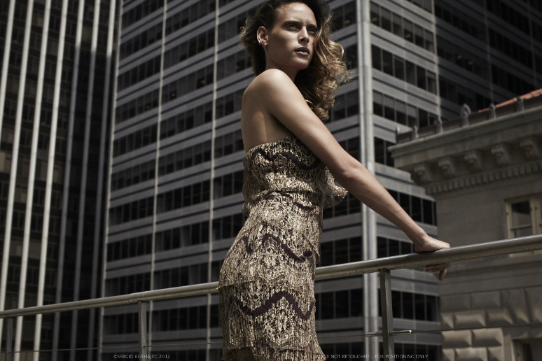 pleated deco lace dress