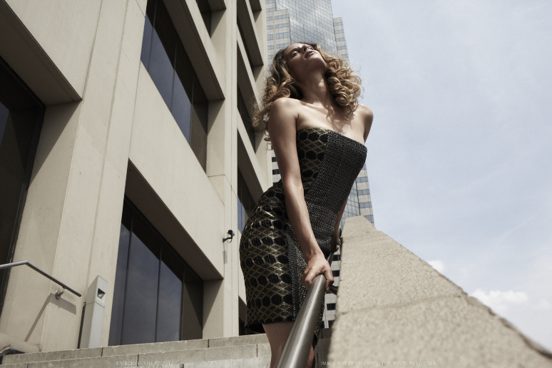 chain maille and diamond lace corset dress