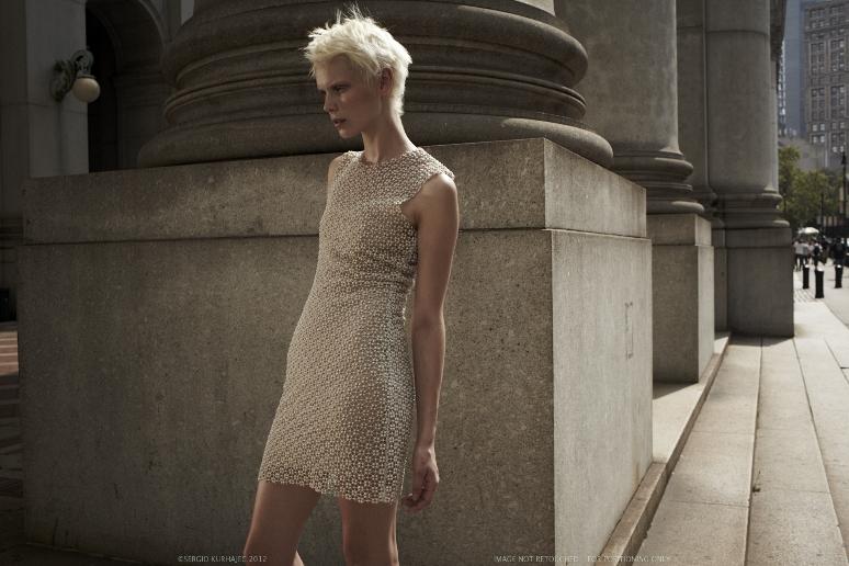 pearl lace shift dress