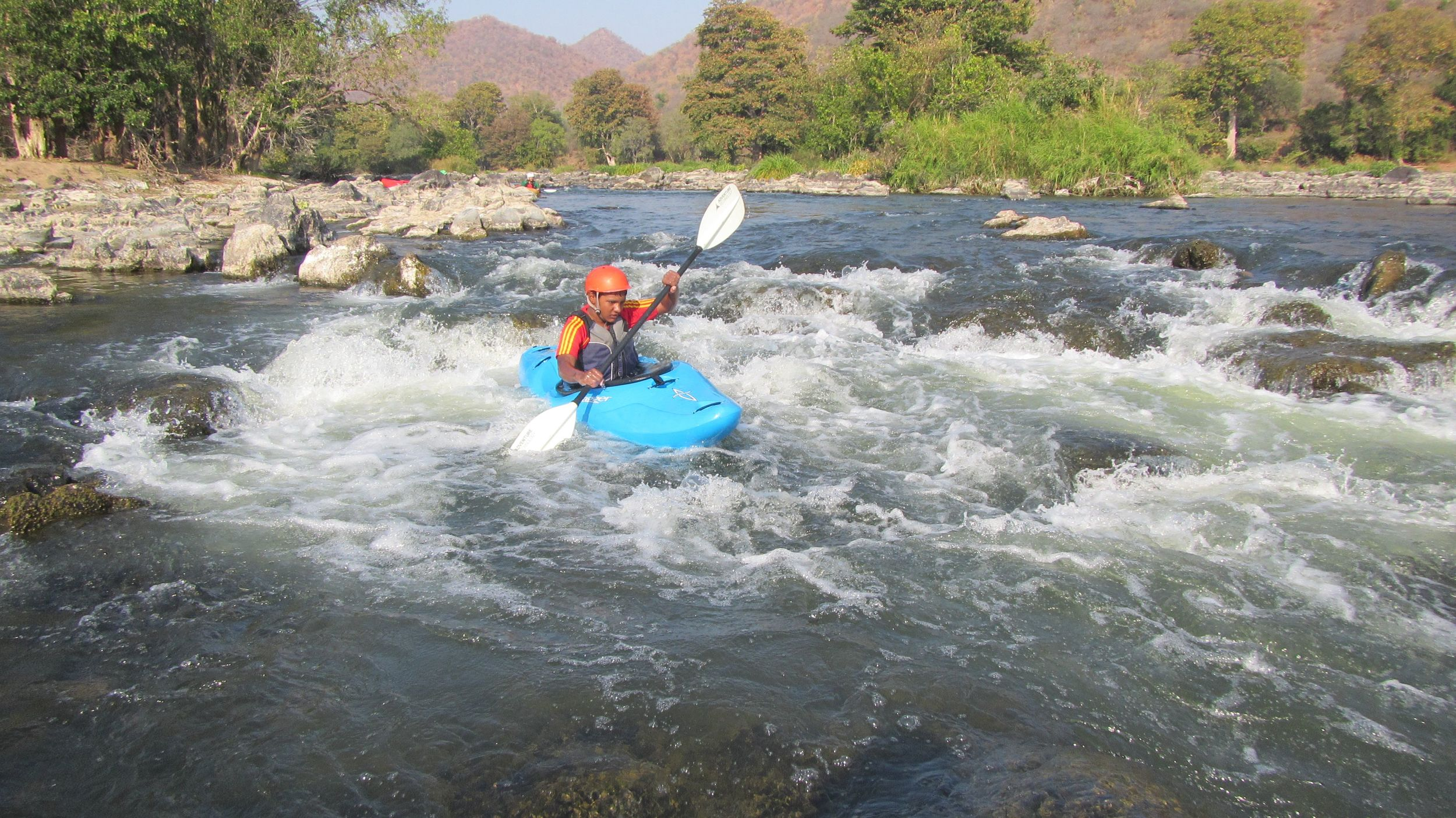 Paddling on Moving water