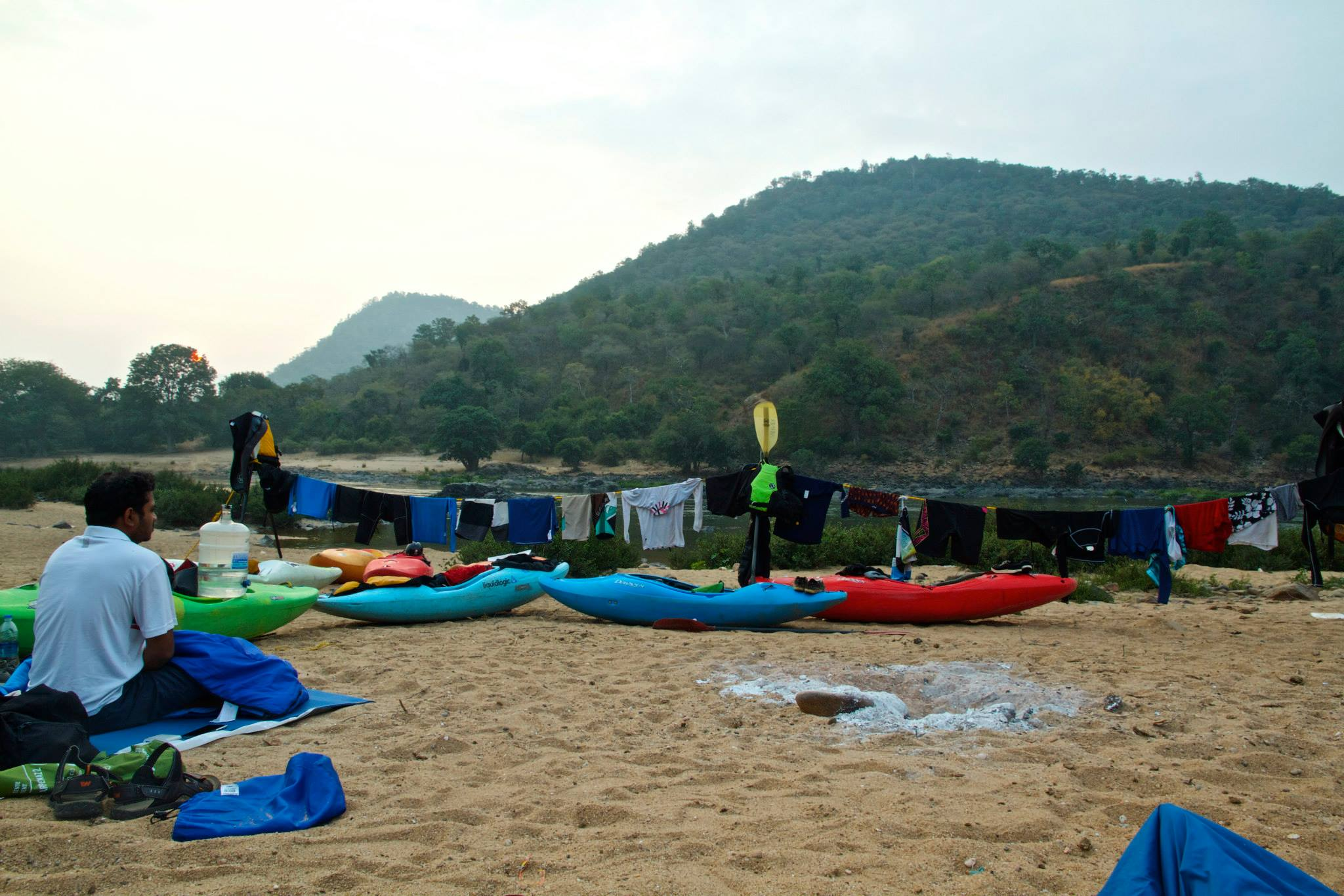 Campsite on the Cauvery