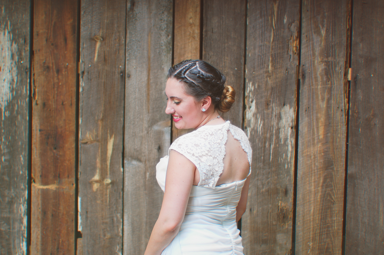 Another photo of my sister from her wedding this summer.