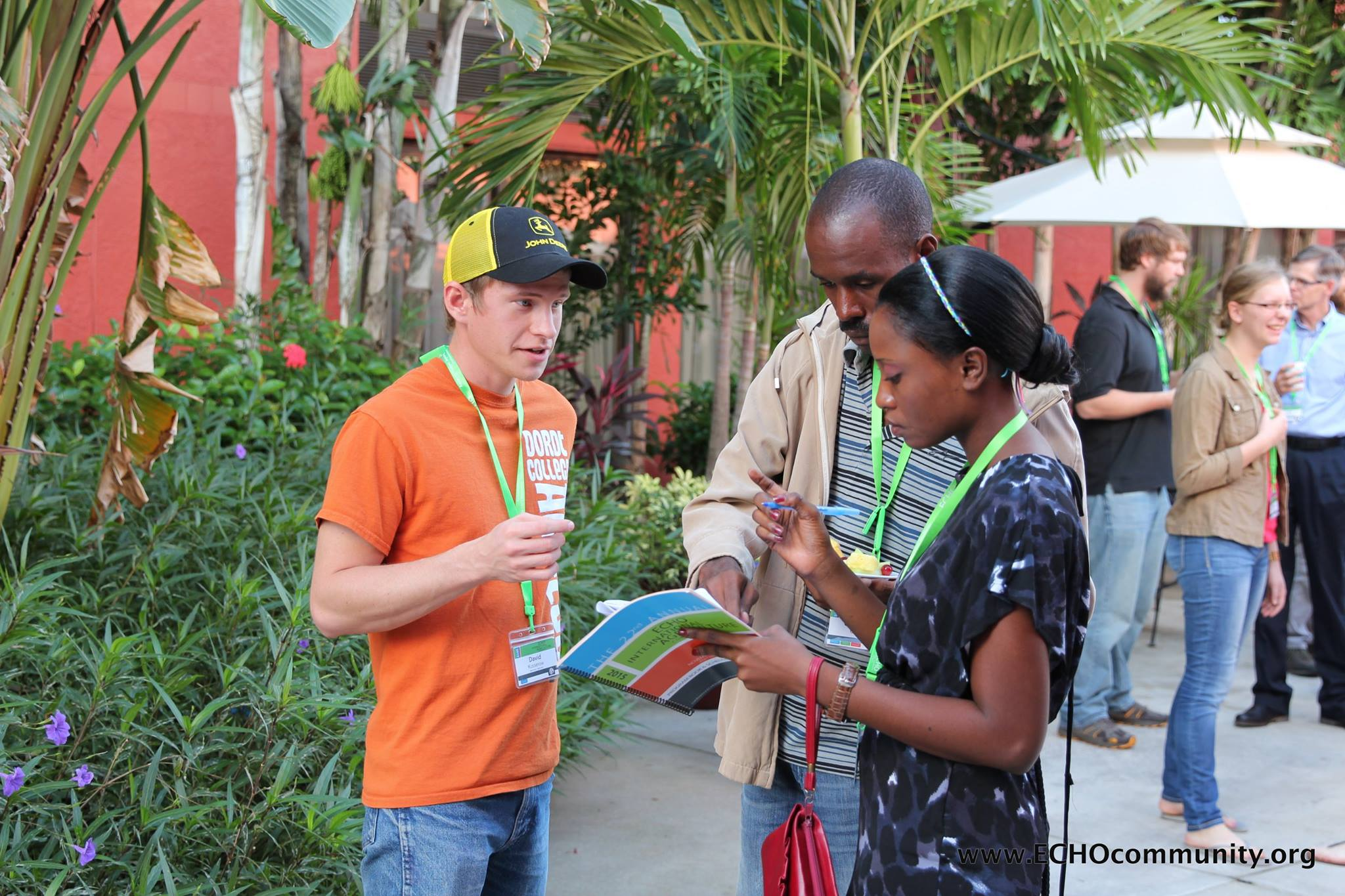 Delegates at the ECHO International Agriculture Conference in Fort Myers, Florida connect about ways to help small-scale farmers through sustainable agriculture. More information:  http://conference.echocommunity.org/  — at  ECHO Global Farm .