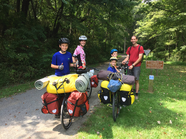"""These are our bikes loaded down on a """"practice trip"""" last fall. The bikes for our cross-country trip will look similar, but will have a trailer off the back of each. Will post an updated photo of this in the next month or so..."""