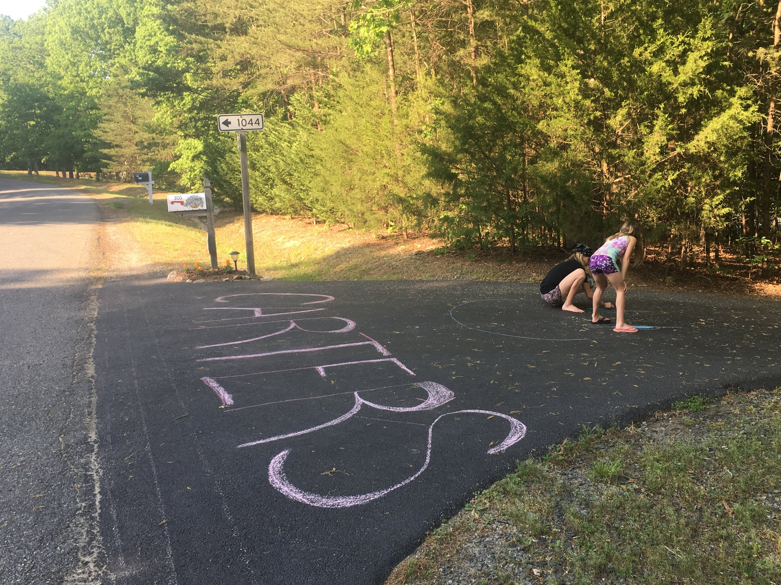 We felt so loved, and this was only part of it. The Edwards kids even had a finish line and drew some really great biking art work!