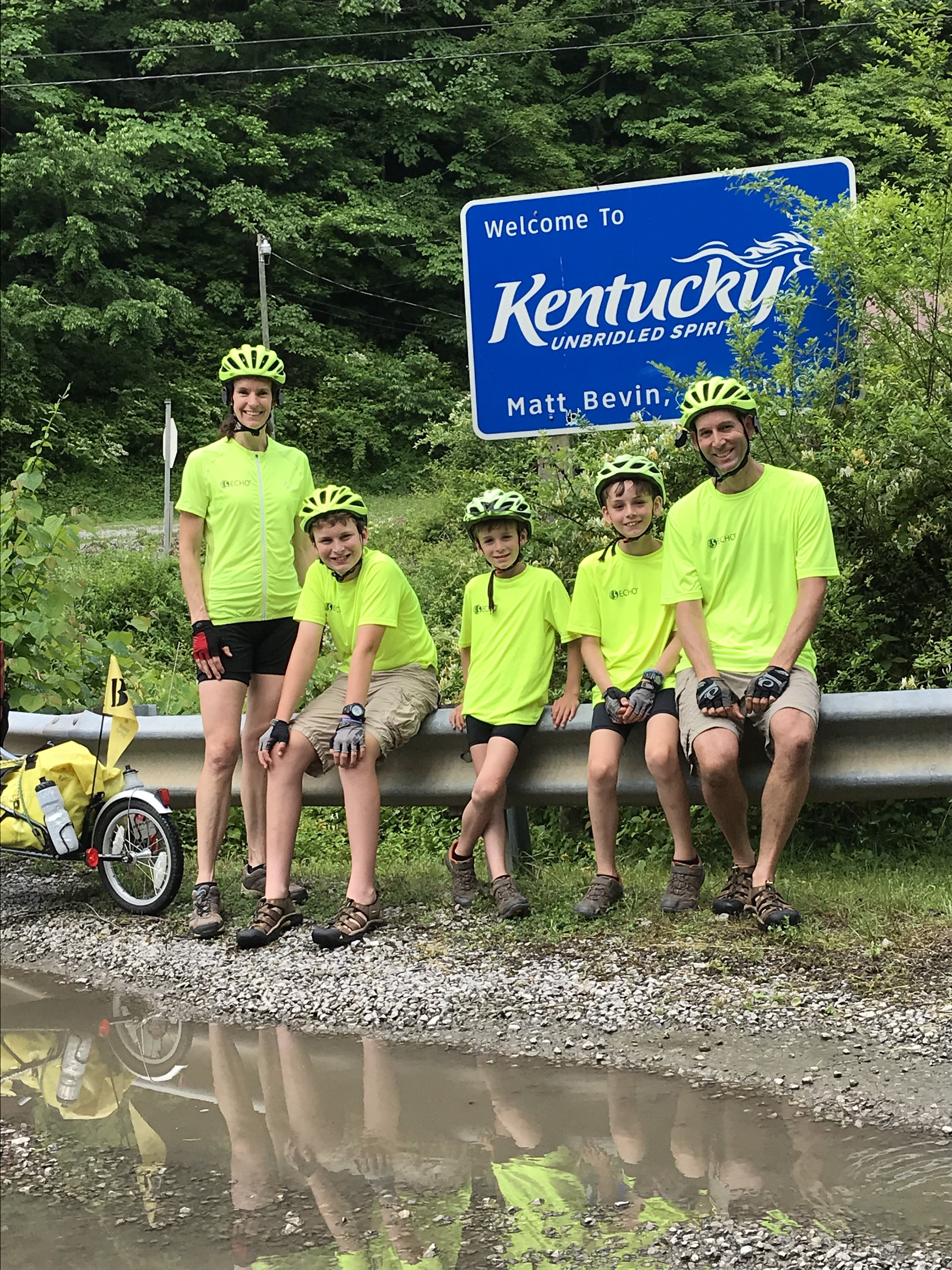 Here we are at the Kentucky line! Yippee!