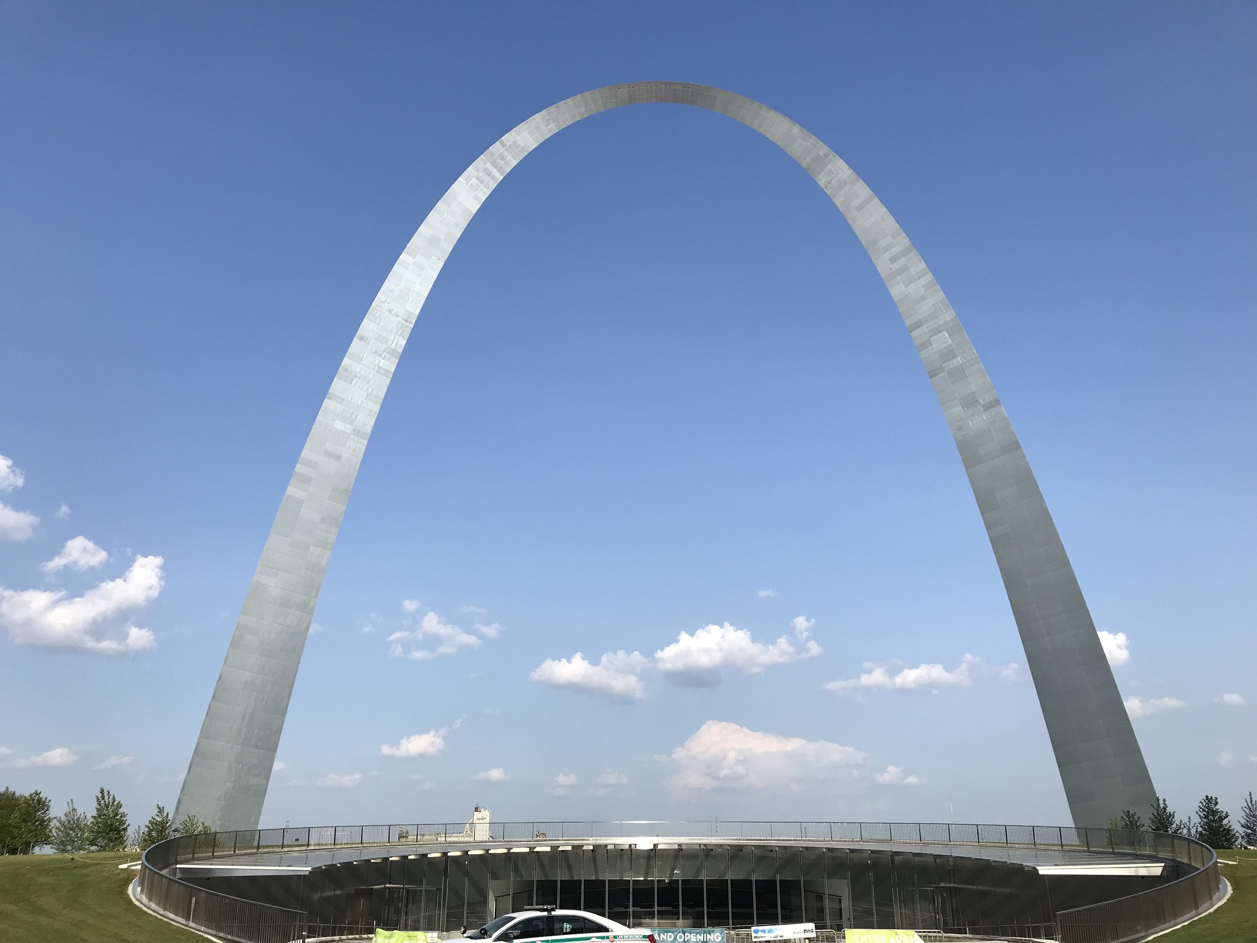 The Gateway to the West. Our hotel was right next to it, complete with a view of the Mississippi River.