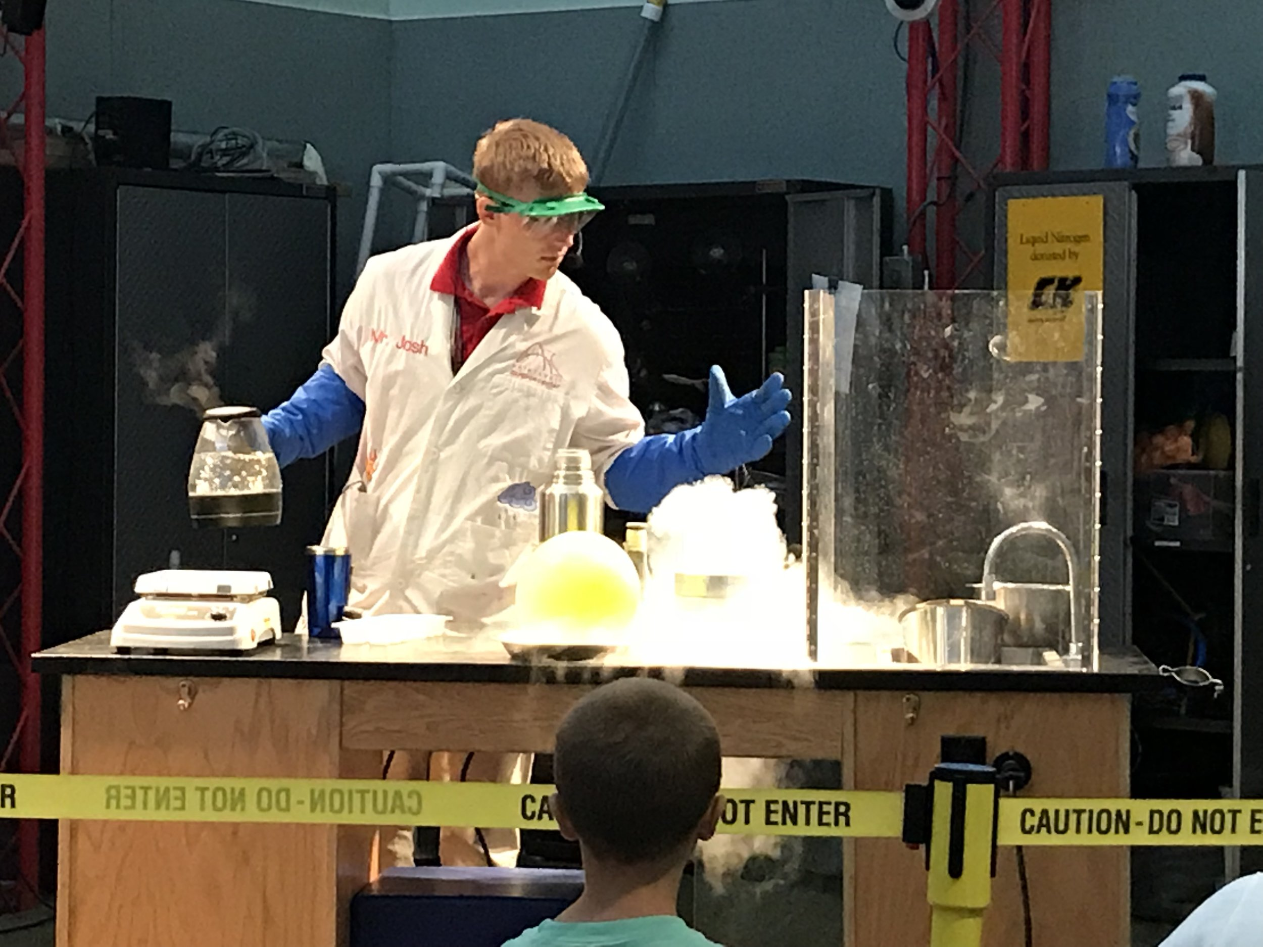 Boiling Hot, Boiling Cold chemistry demonstration at the Science Center. This was so cool!!