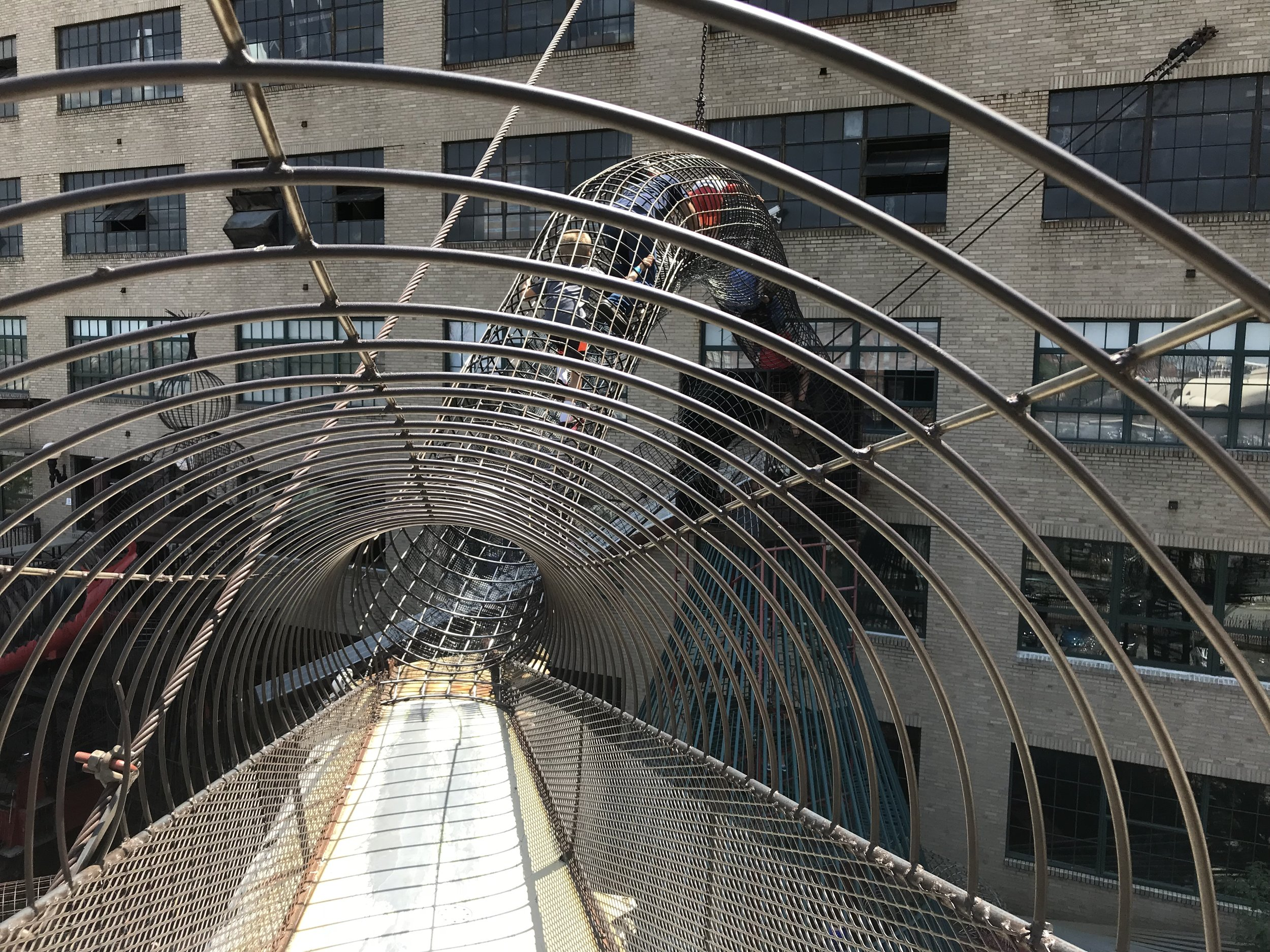One of the climbing structures at City Museum
