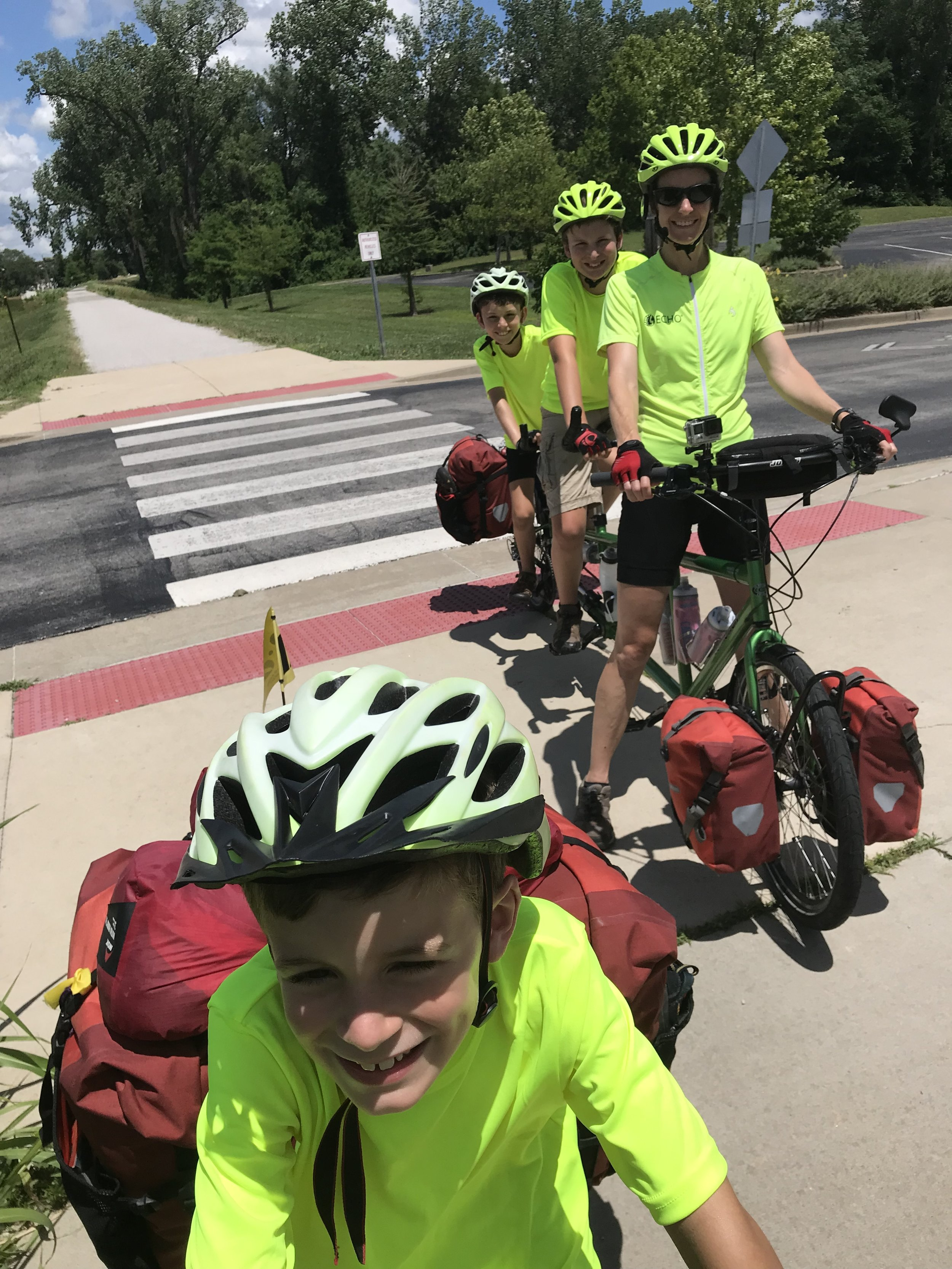 Here we are starting on the Katy Trail.