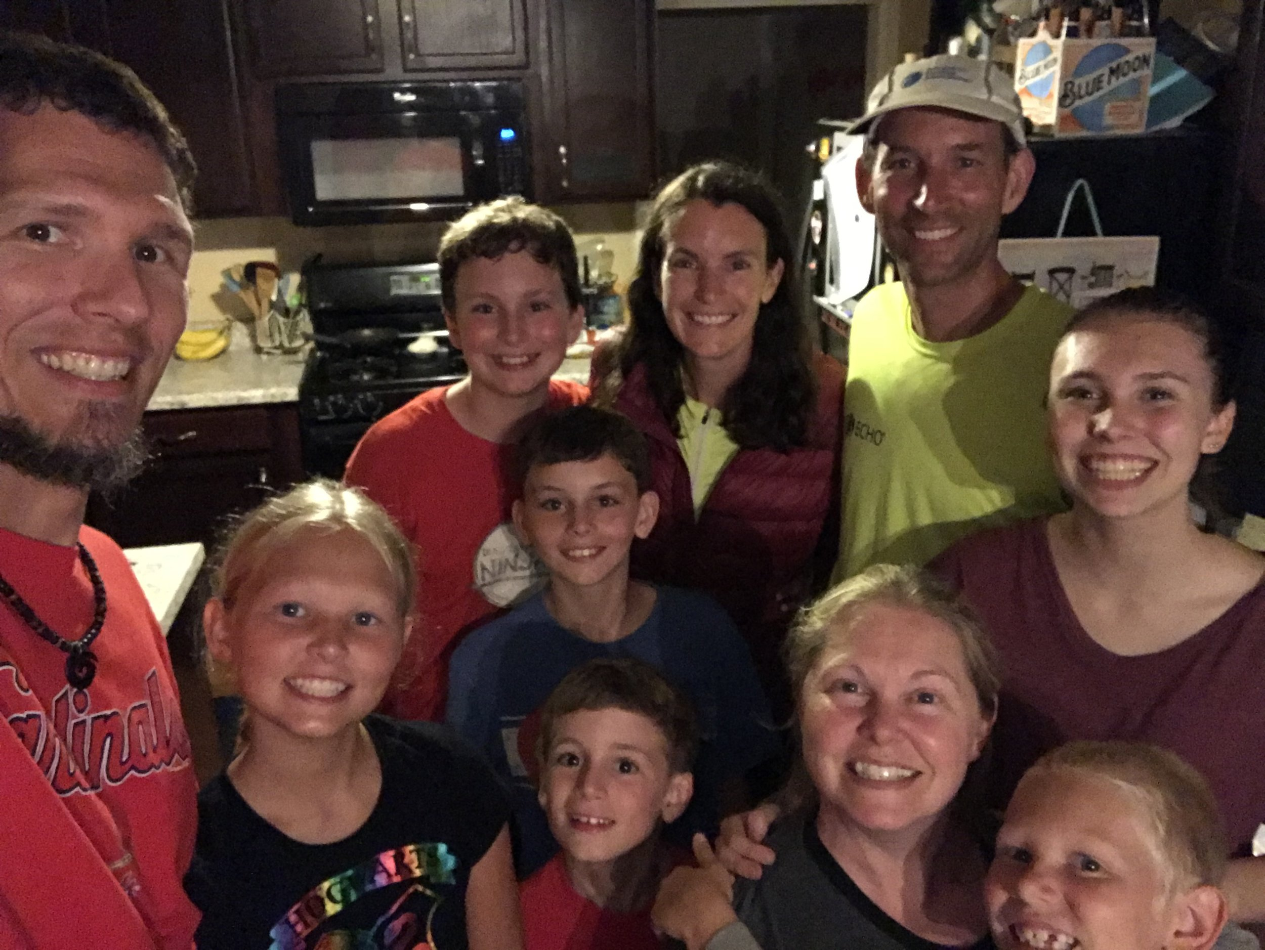 Our lovely Warm Showers host family, Lee, Keely, Julie, Elly, and Westley.
