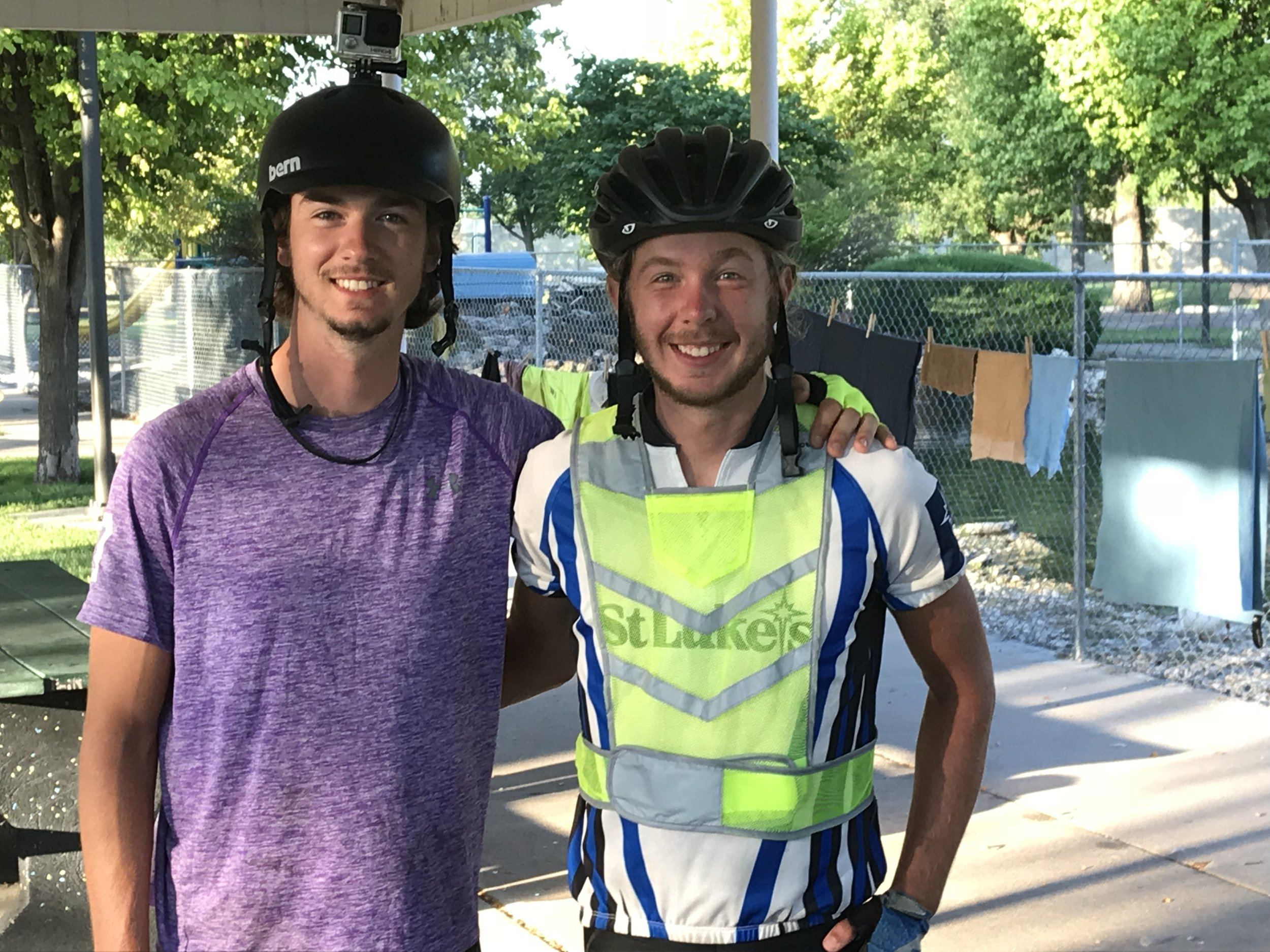 These two recent college graduates, Nick and Mitchell, are traveling the TransAmerica Trail, too, going west just as we are. It was a pleasure making their acquaintance and camping with them in Larned, KS!