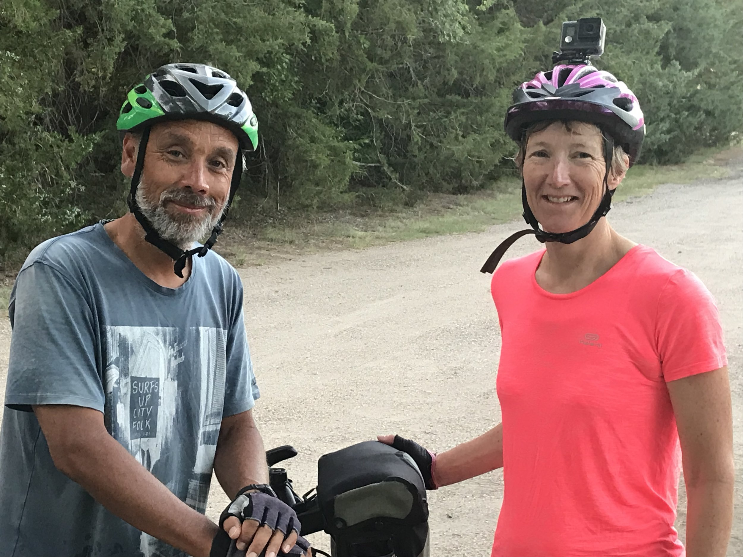We had the pleasure of camping two different nights with this lovely couple from the Netherlands, Mike and Ineke. They, too, are going west across the TransAmerica Trail.
