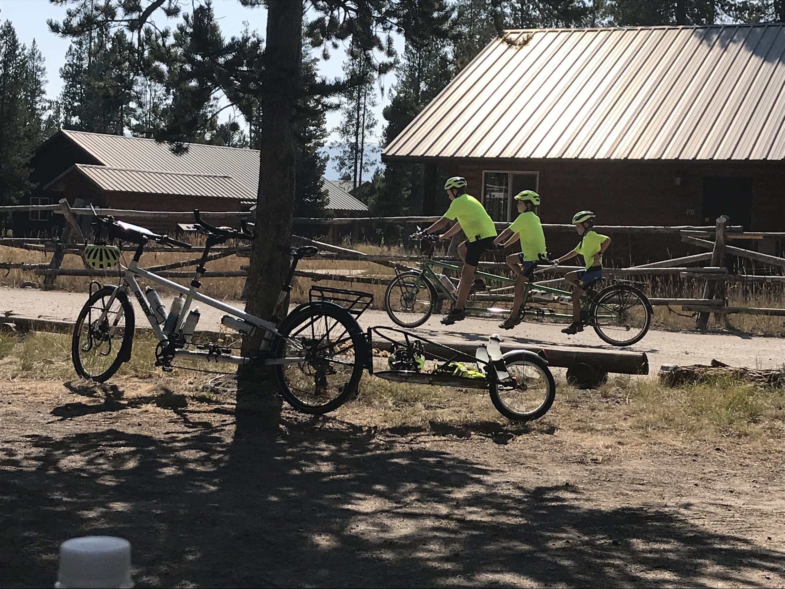 Here are the three boys on the triple all together- just riding around a campground together during some free time. They have really formed some tight bonds on this trip, despite the normal moments of conflict and arguing that you might expect.
