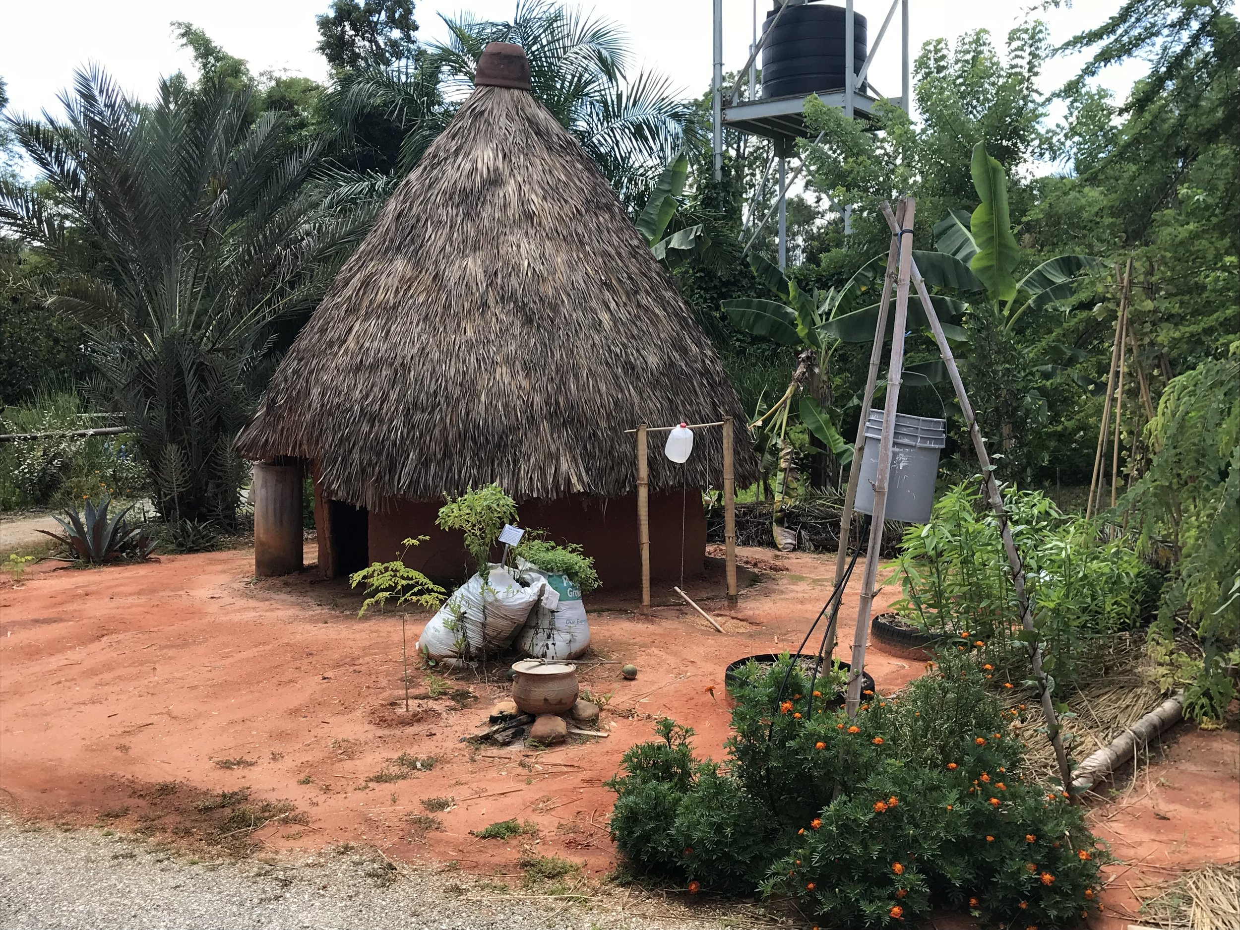 This is another type of dwelling built on the farm using materials grown and harvesting there.