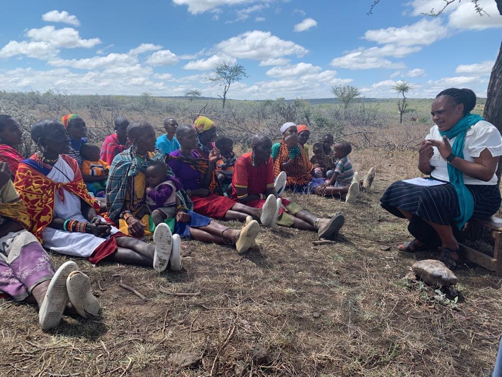 One of the WASH (Water, Health, and Sanitation) groups in Narok, Kenya. Here, a local ministry,  AfricaHope  (a partner of  New International ), is partnered with AquaClara to facilitate the WASH groups in Narok. Because of the different tribes and tribal languages, having locals trained to work with locals is key. Here, you see a Masaai training Masaais. I love this model. Equipping the locals to work with their own communities.