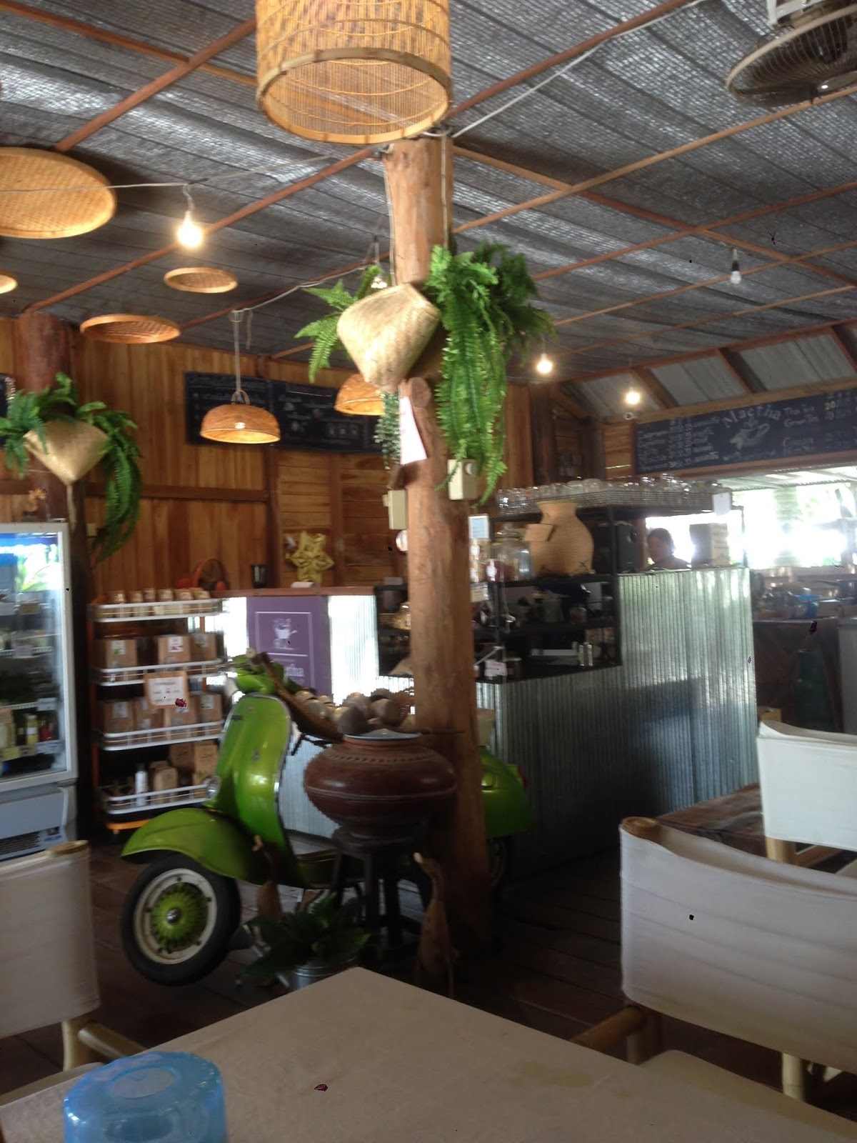 The cooperative's organic cafe