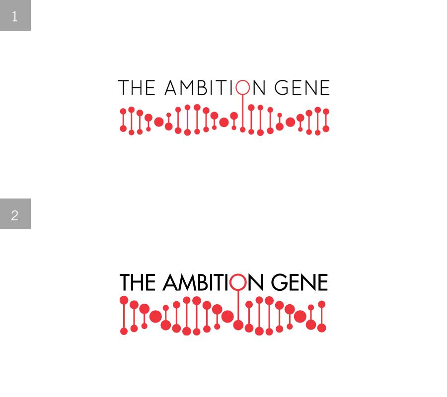 The Ambition Gene  (Logo Design)   Re-working a logo for an HSBC Pitch   1 = final logo 2= initial exploration  Role: Illustration & Design JWT/HSBC 2012