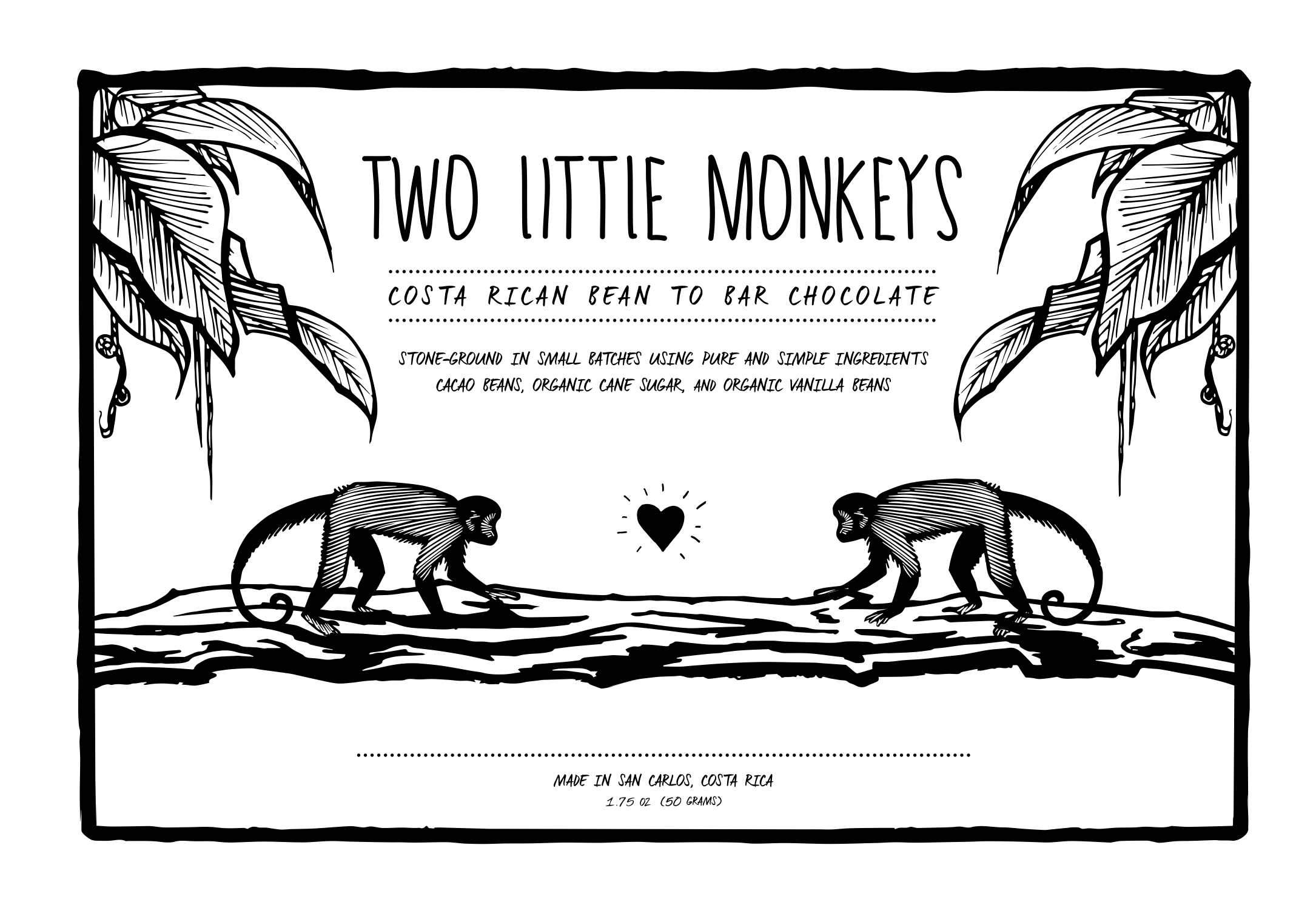 Two Little Monkeys     Chocolate Label  Role: Design 2015