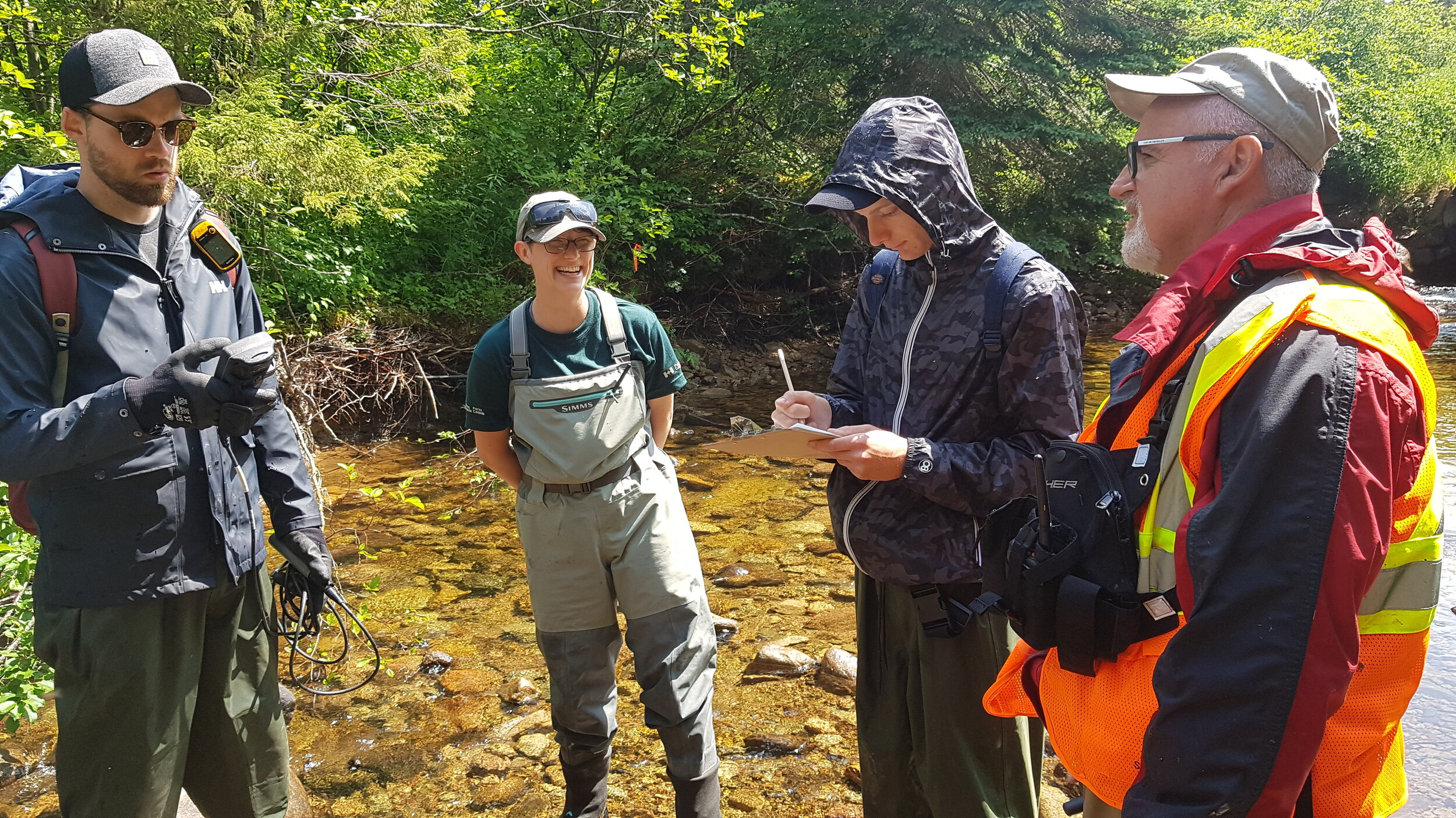 The CRSA worked closely with partners at Cape Breton Highlands National Park to conduct habitat assessments on the Cheticampy River this summer
