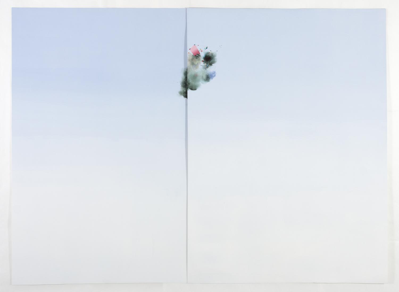 "Float, 2013, oil on paper, 60"" x 78"""
