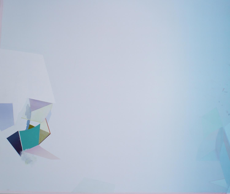 "Beneath, 2013, oil on paper, 48""x43"""
